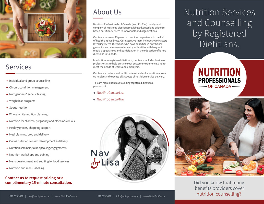 tigerlily graphics nutritional professionals of canada