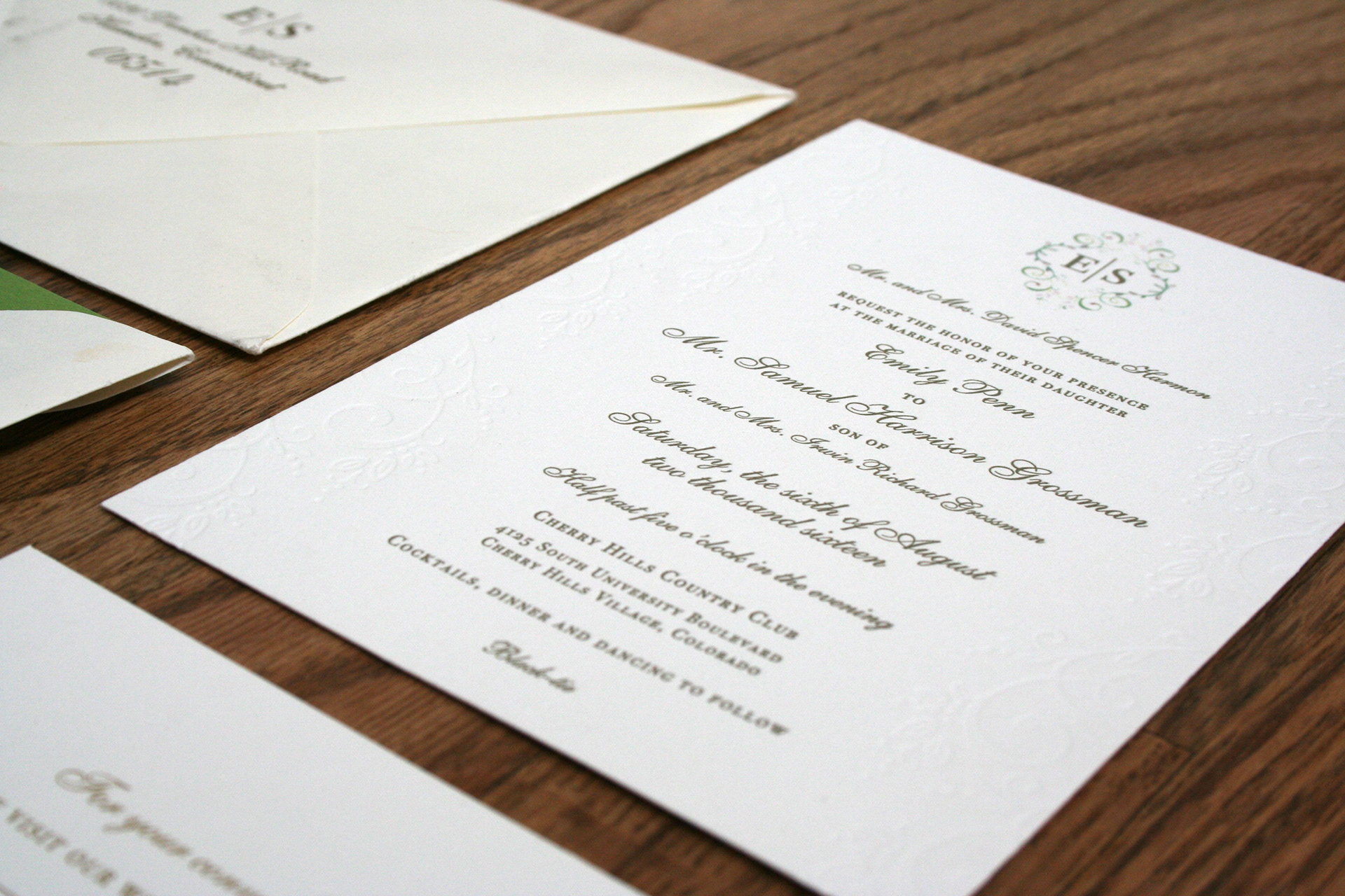 Taylor Grant - Sam and Emily Wedding Invitation Suite