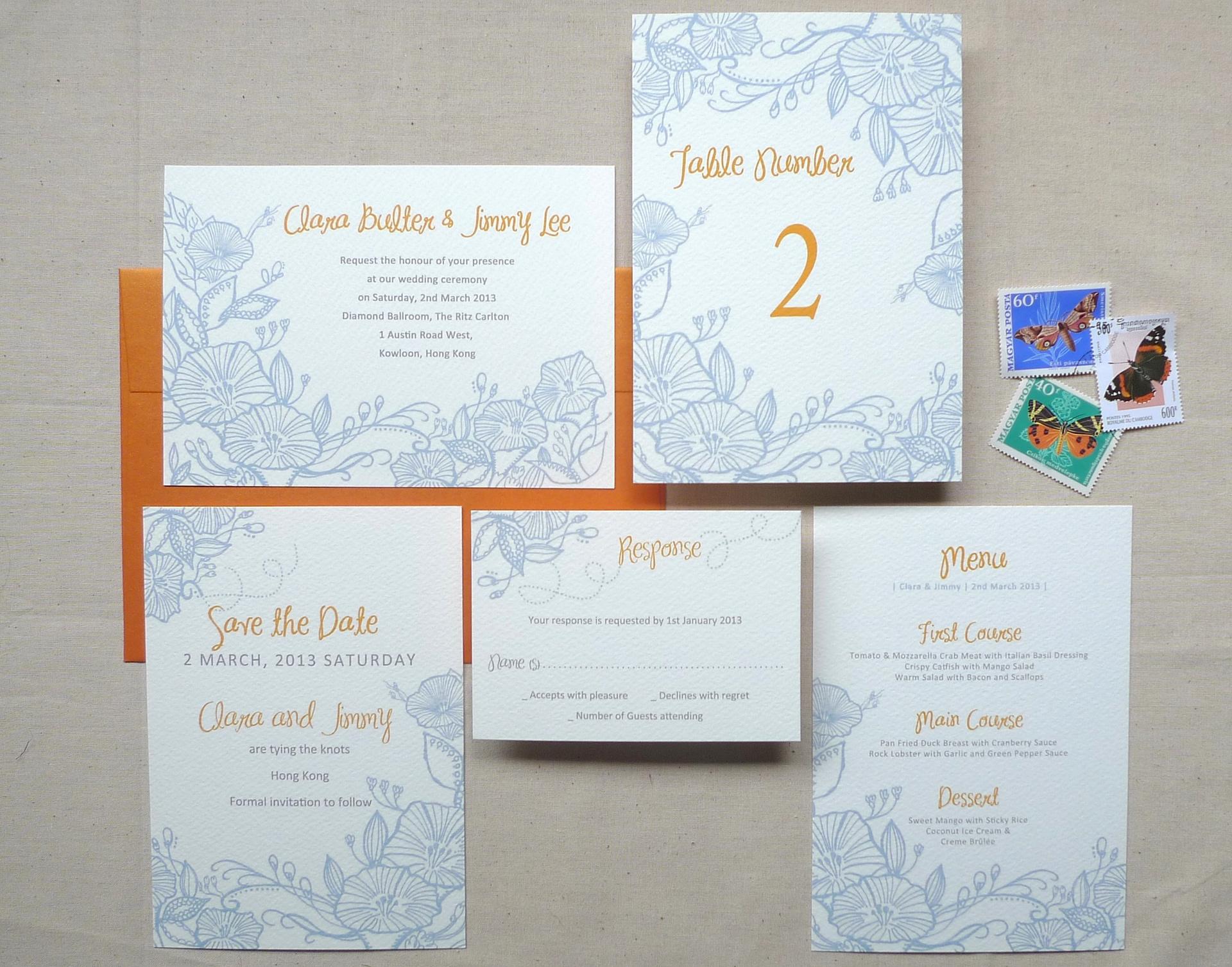 Ka Lo Chu - Royal Pavilion Wedding Invitation