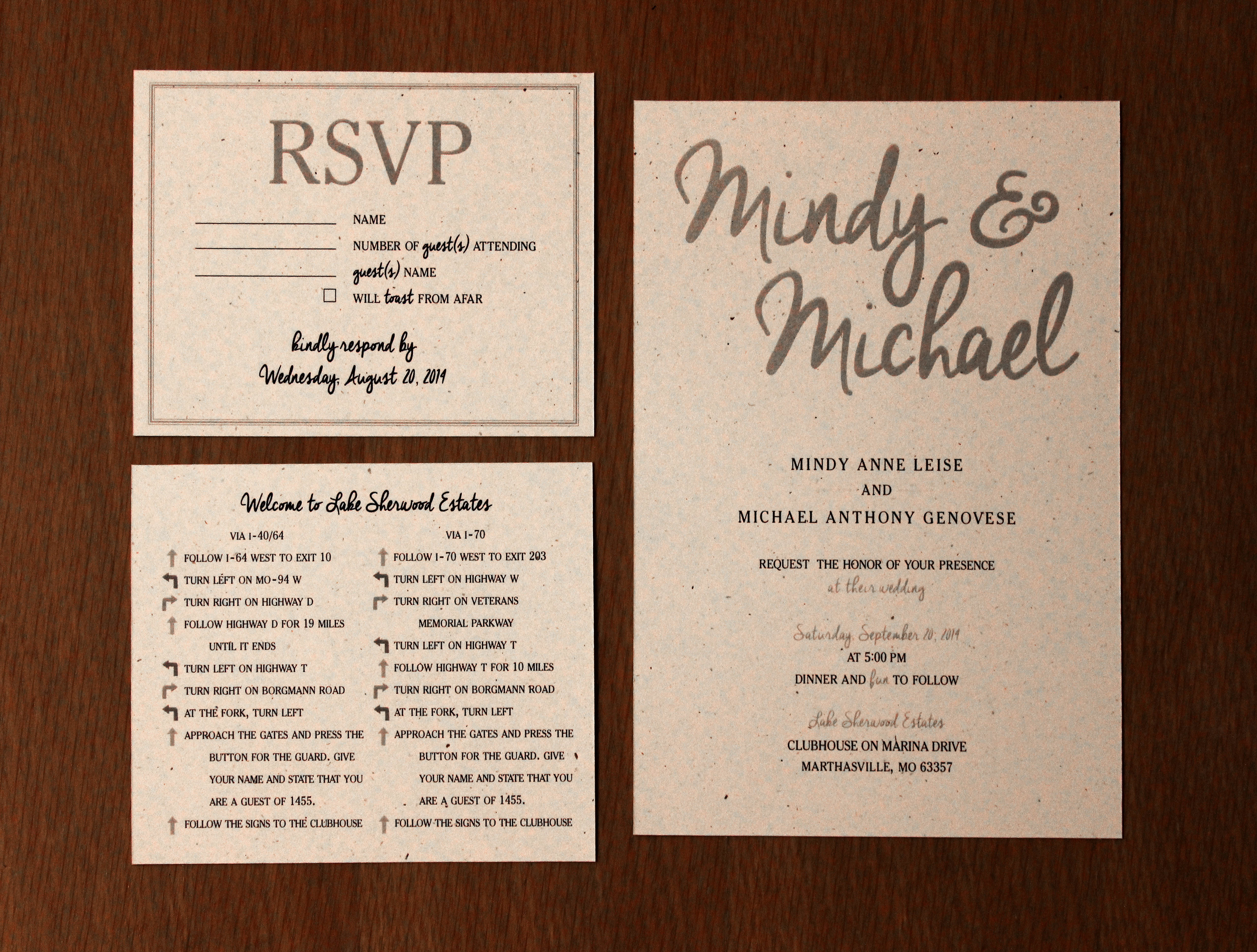 Julie Leise - Wedding Invitations