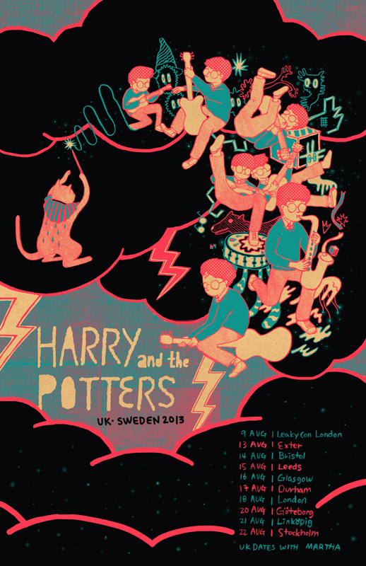 Sounion hong - Harry and the Potters tour poster