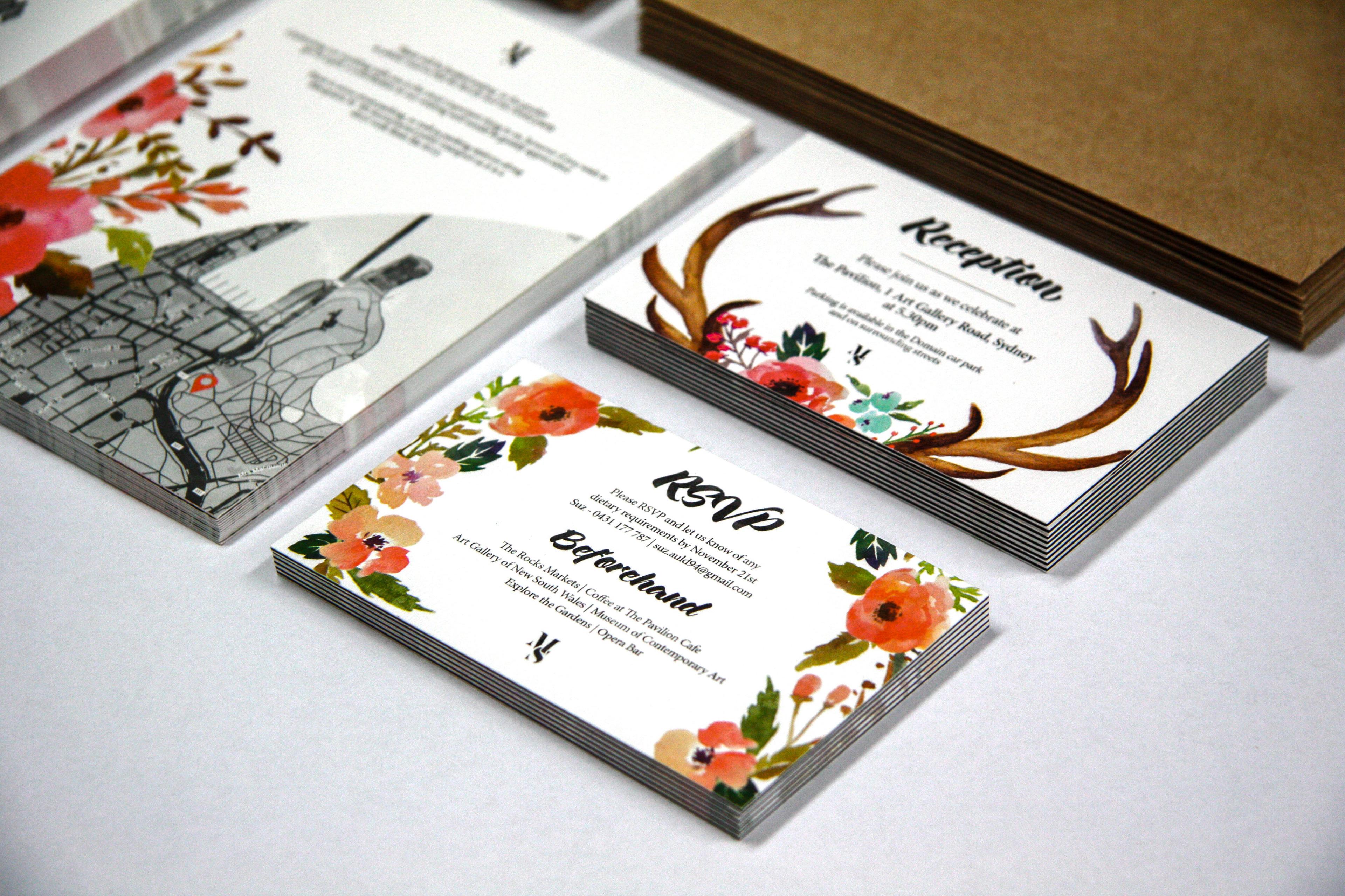 Daniel Malik | Design Portfolio - Wedding Invitations