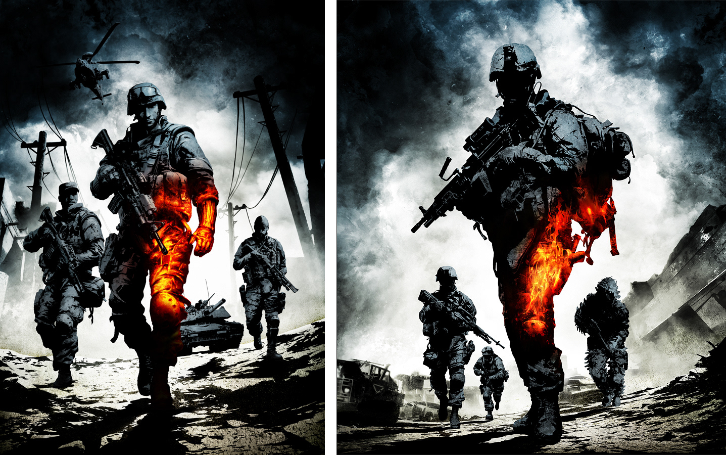 Robert Sammelin Artworks Battlefield Bad Company 2 Key Art