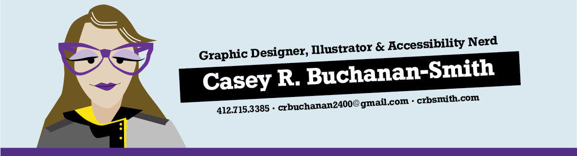 Graphic Designer and Illustrator Casey Buchanan-Smith. For contact information see the contact page