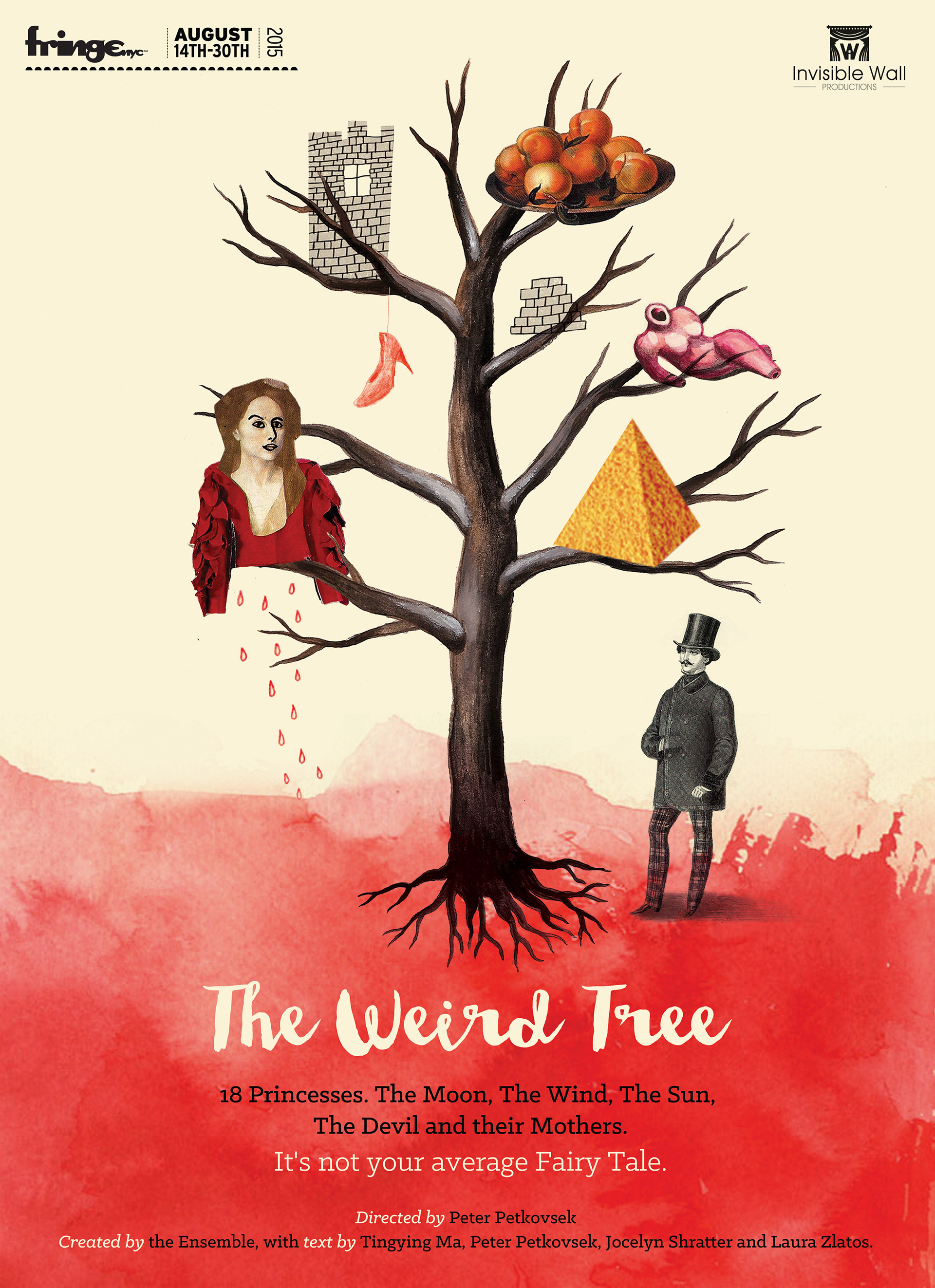 Poster For A Theatre Play The Weird Tree Presented As Part Of New York International Fringe Festival Man Climbs To Win Princess