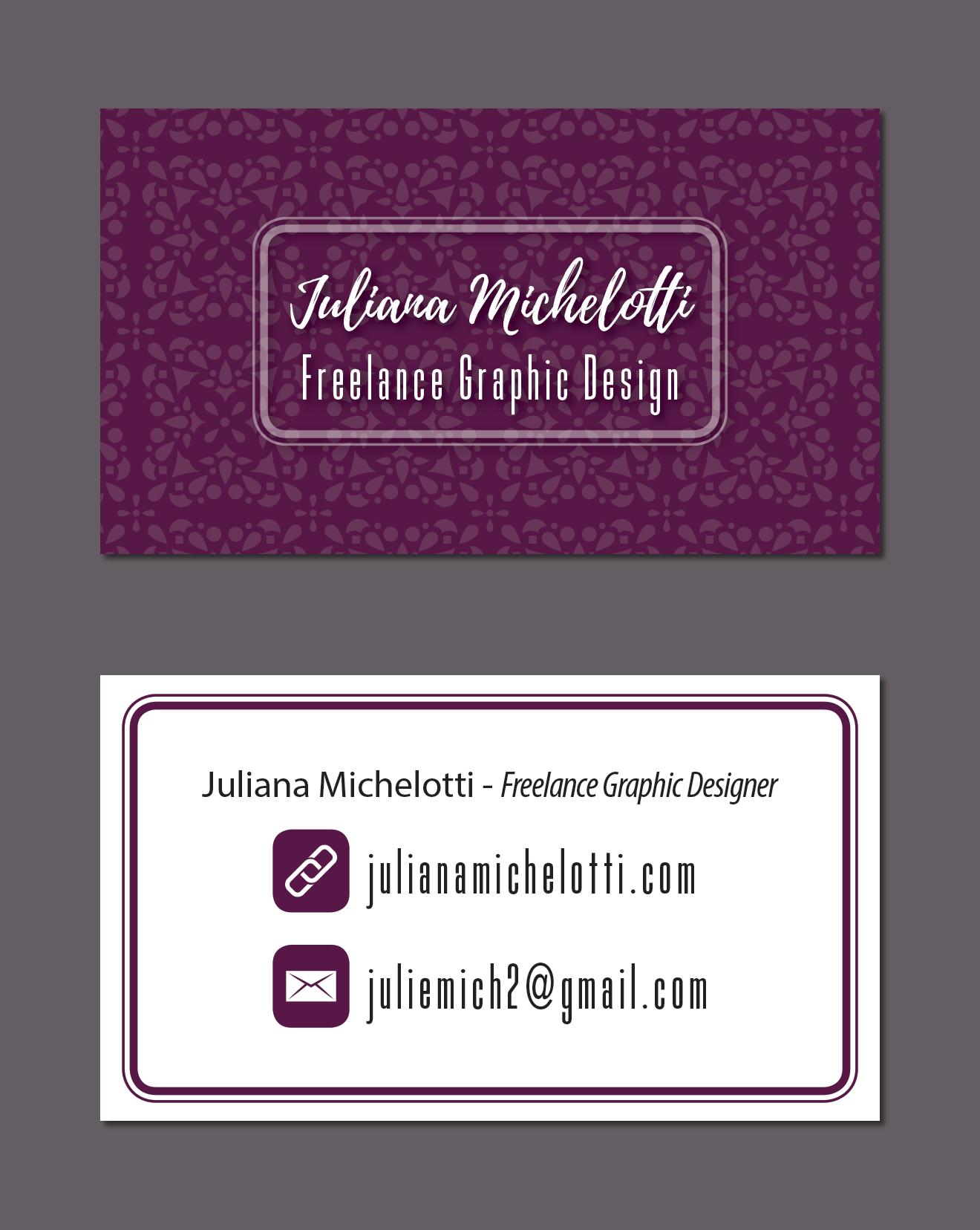 Juliana Michelotti - Personal Business Card