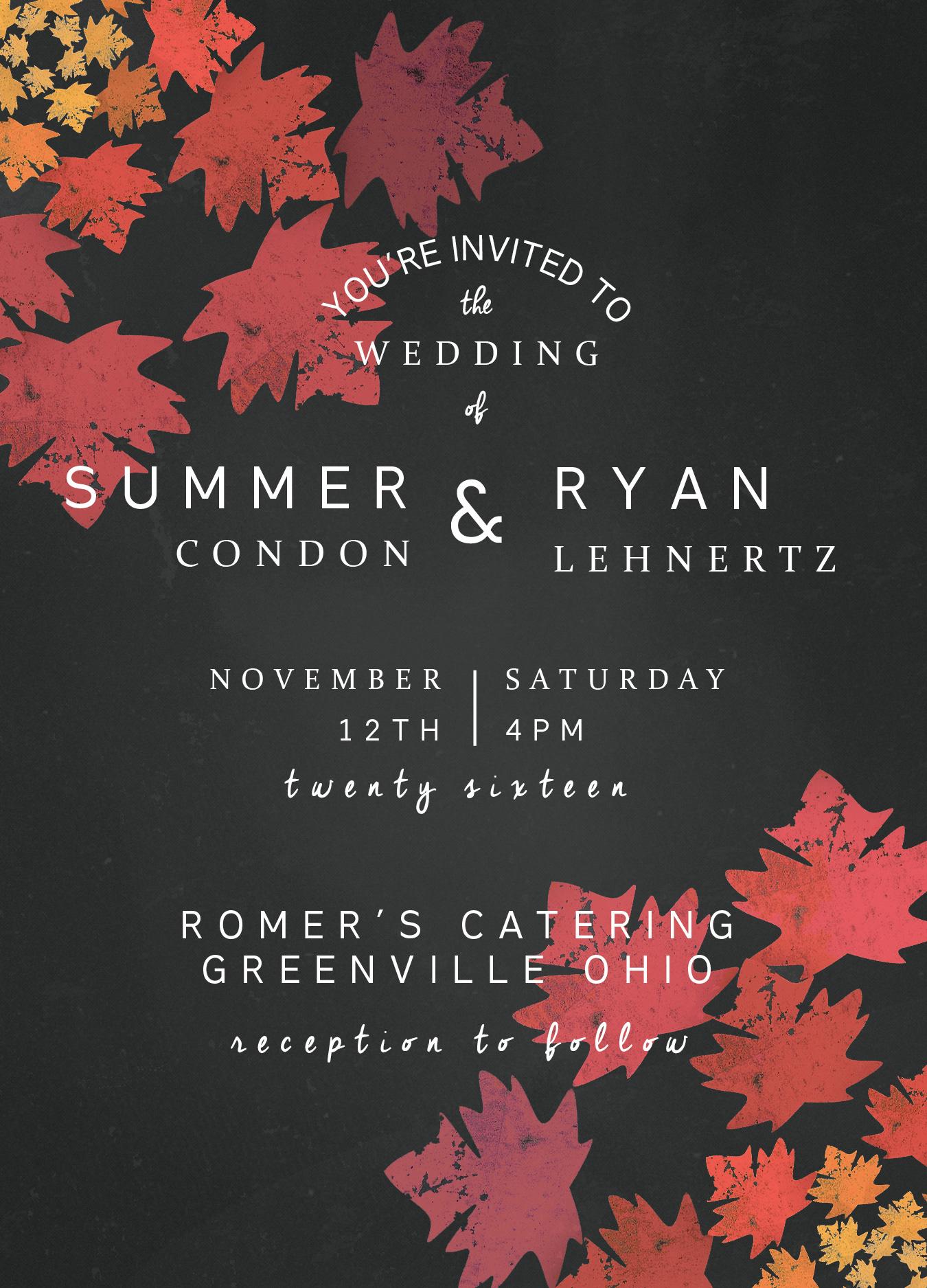 Damon Condon - Lehnertz Wedding Invite
