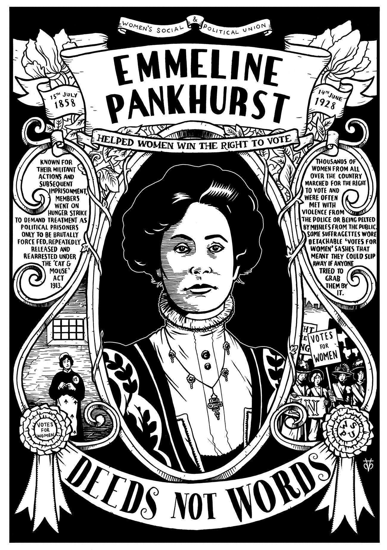 John Bishop Emmeline Pankhurst Poster