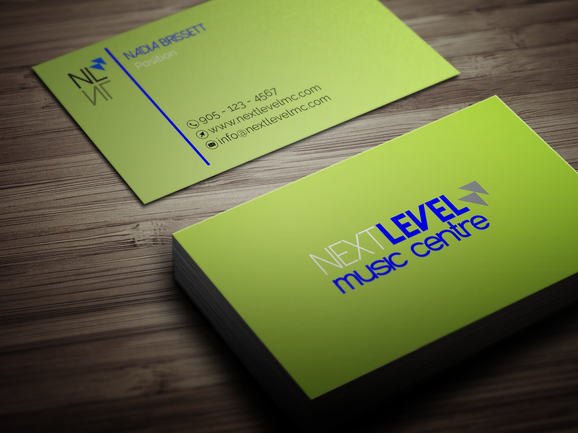 Brii Creative Portfolio Professional Music School Business Cards