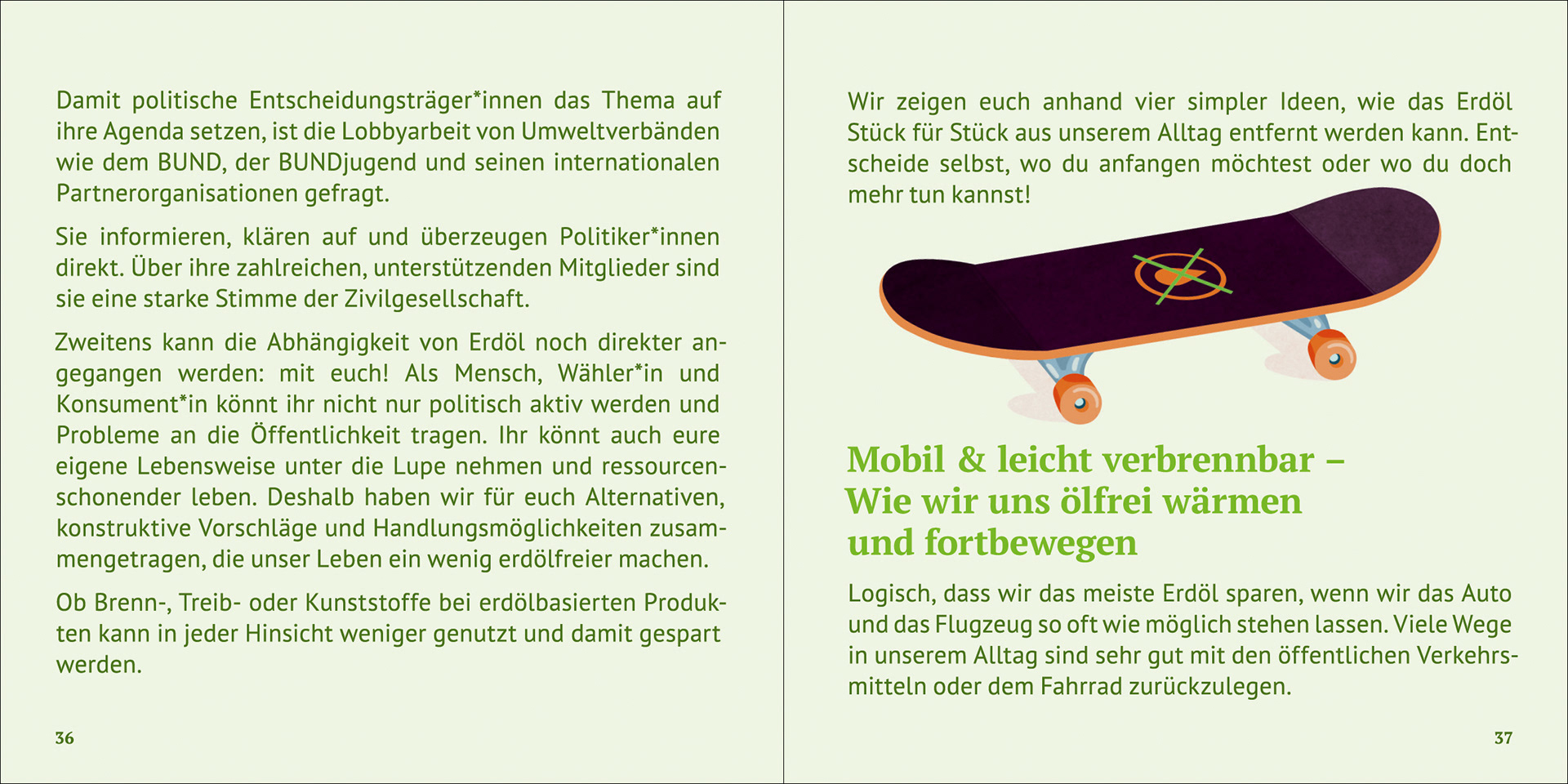 Annika Huskamp Illustration - Ölwechsel! / leaflet illustration