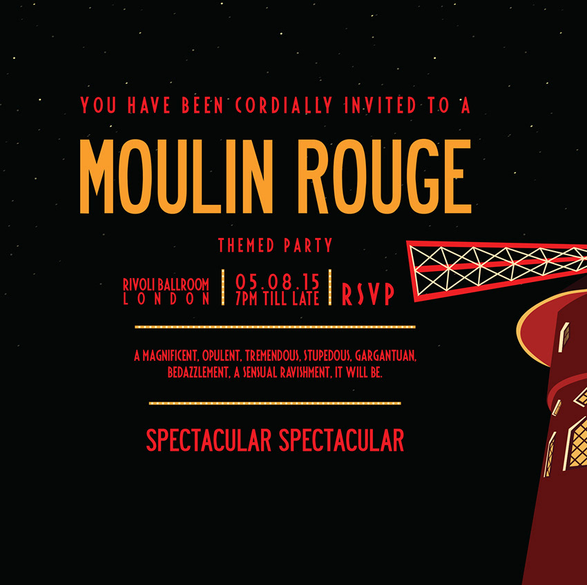 Charlotte Crozer - Moulin Rouge party