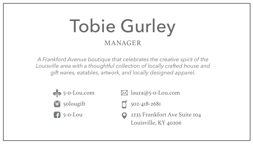 Casey Bariteau - 5-0-Lou Website & Business Card Design