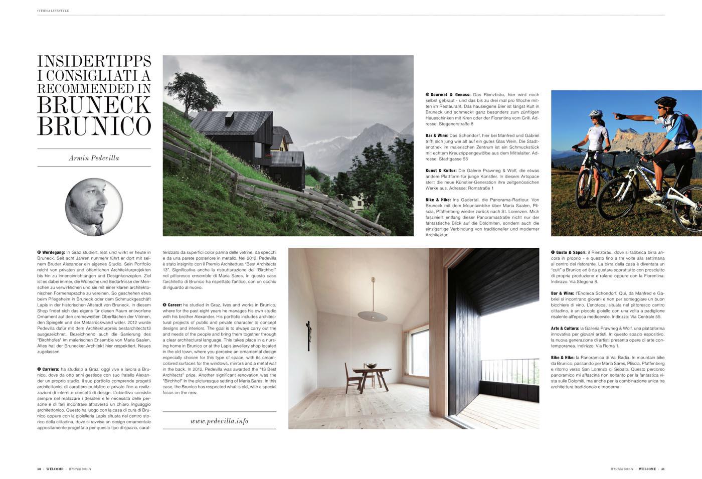 Ad P Architetti pedevilla architects . - welcome magazine
