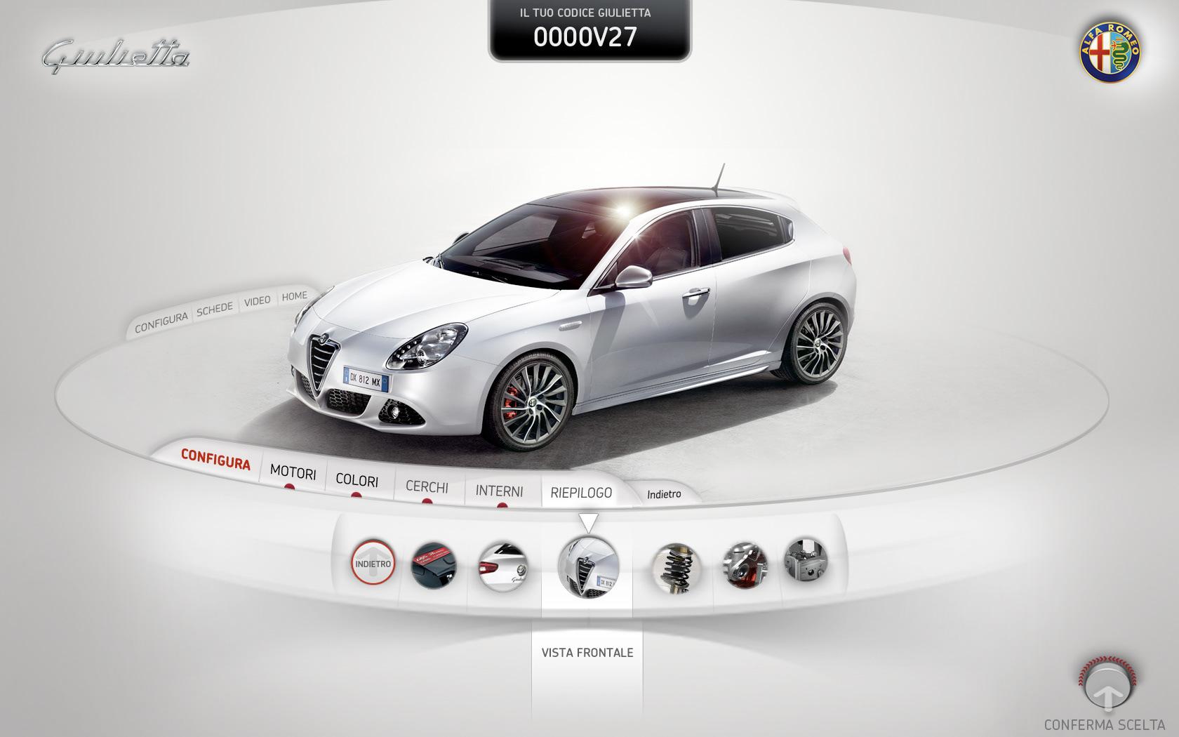 gianpaolo tucci - alfa giulietta - interactive kiosk