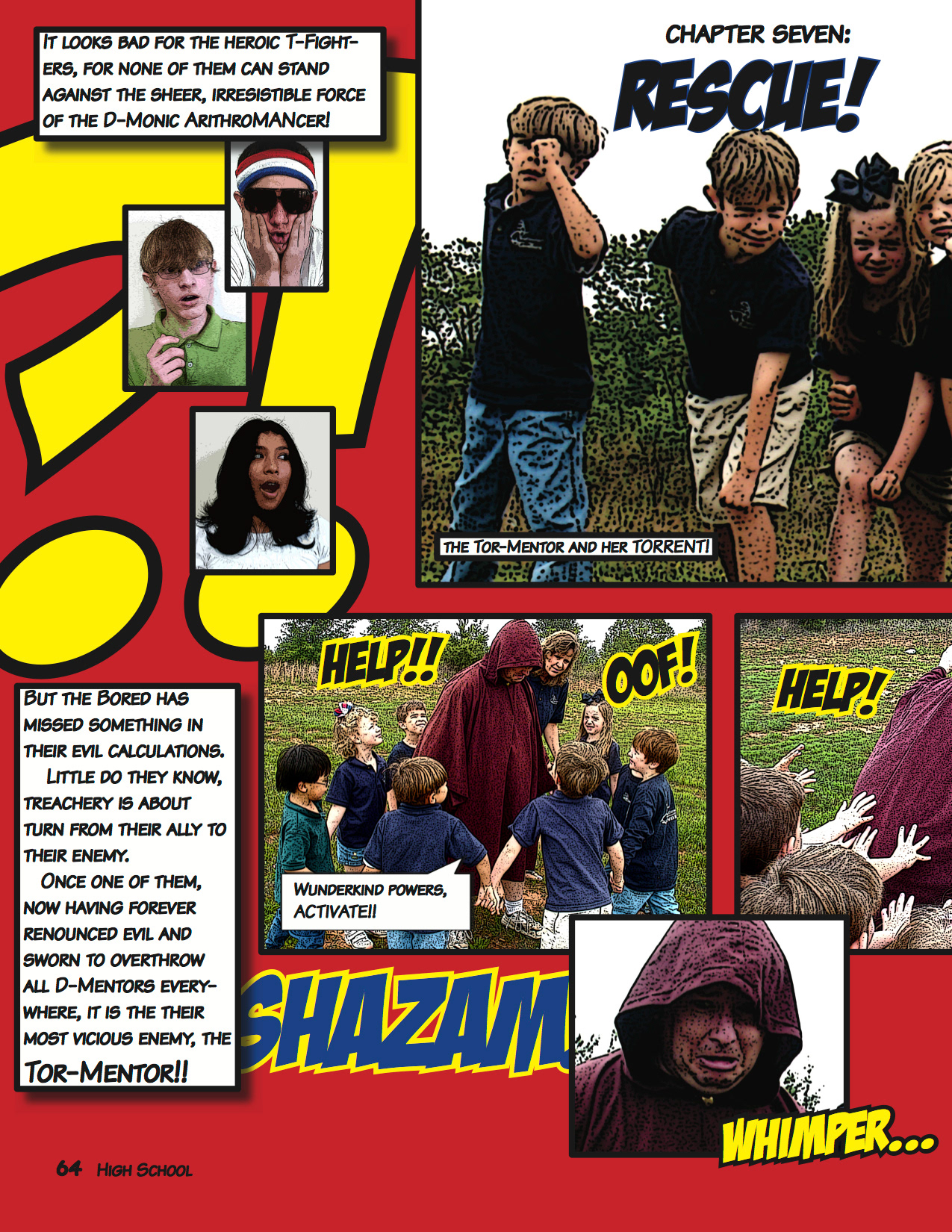 Bringing Comic Book Punch To A K 12 Yearbook