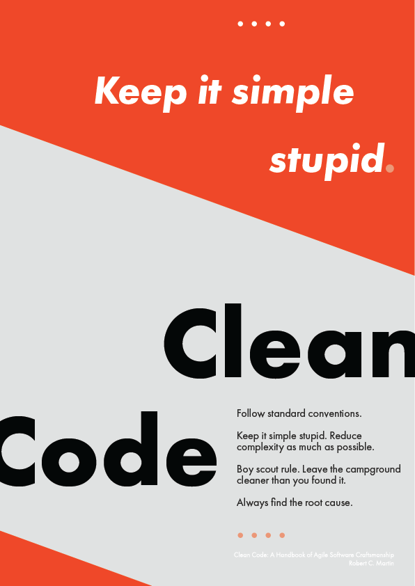 Kinga Design Clean Code Poster Free Download