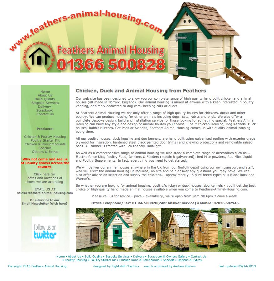 John Osborne - Feathers Animal Housing website
