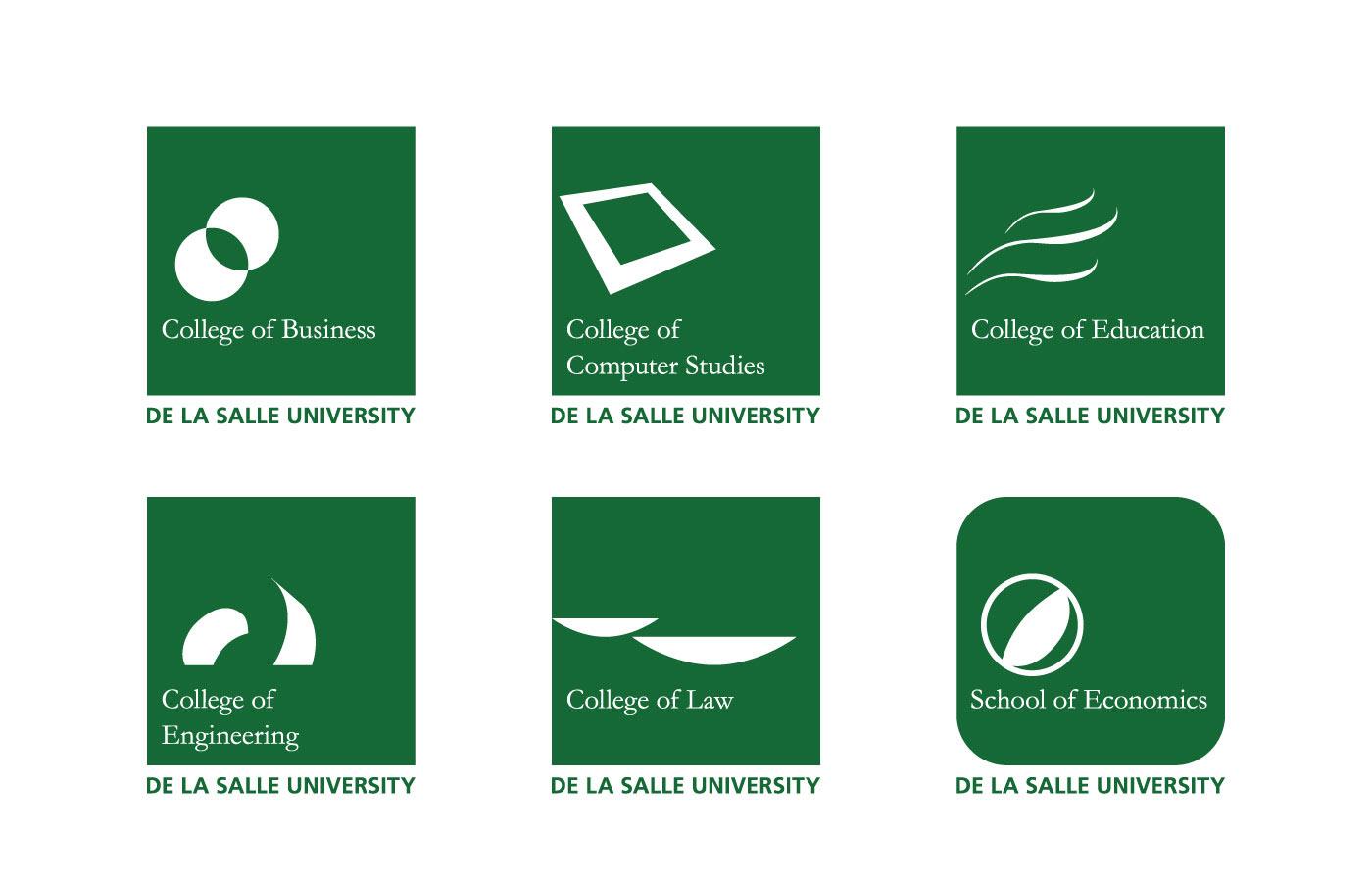 luis de vera graphic designer dlsu college logos