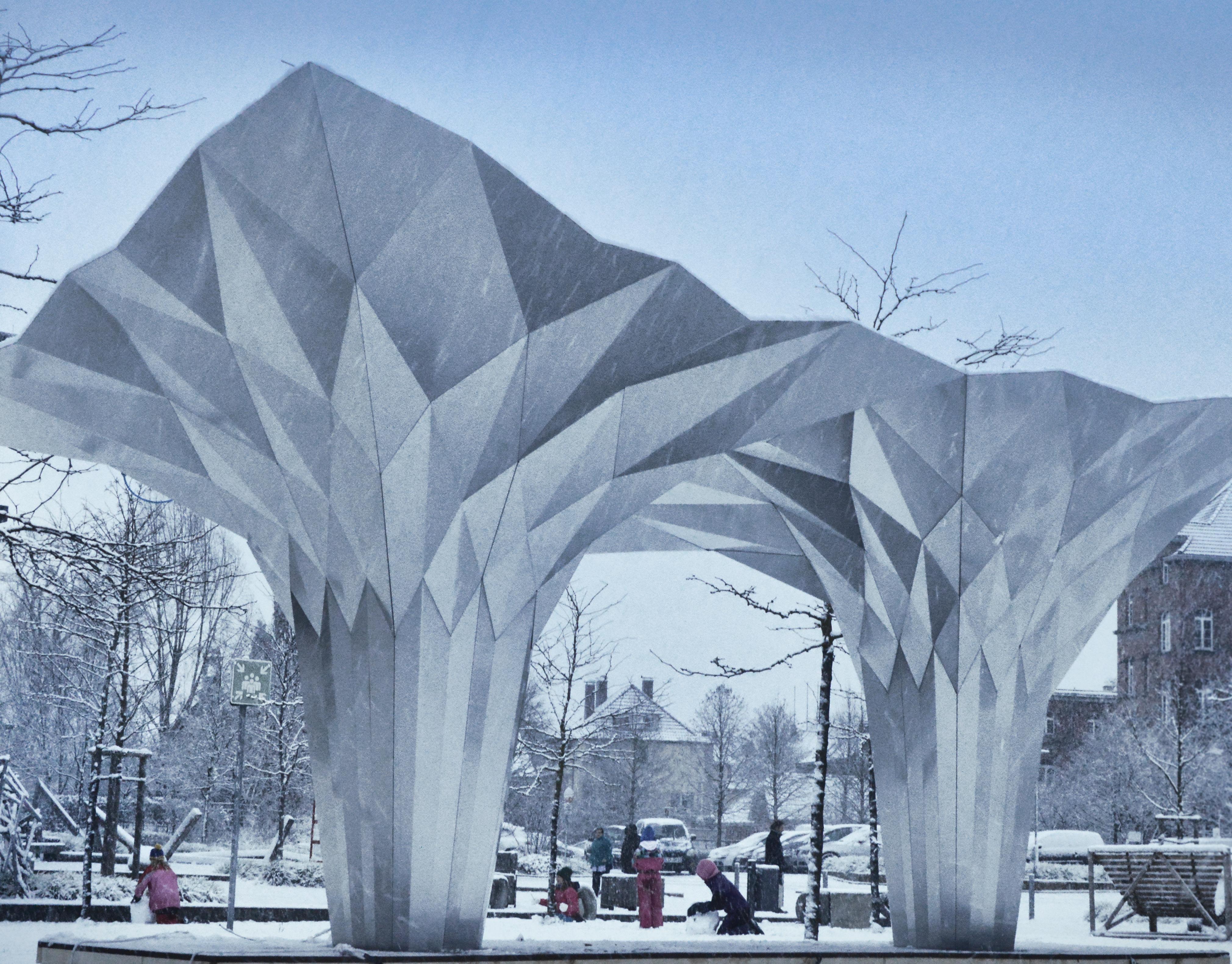 Tal Friedman Parametric Architecture Origami Pavilion