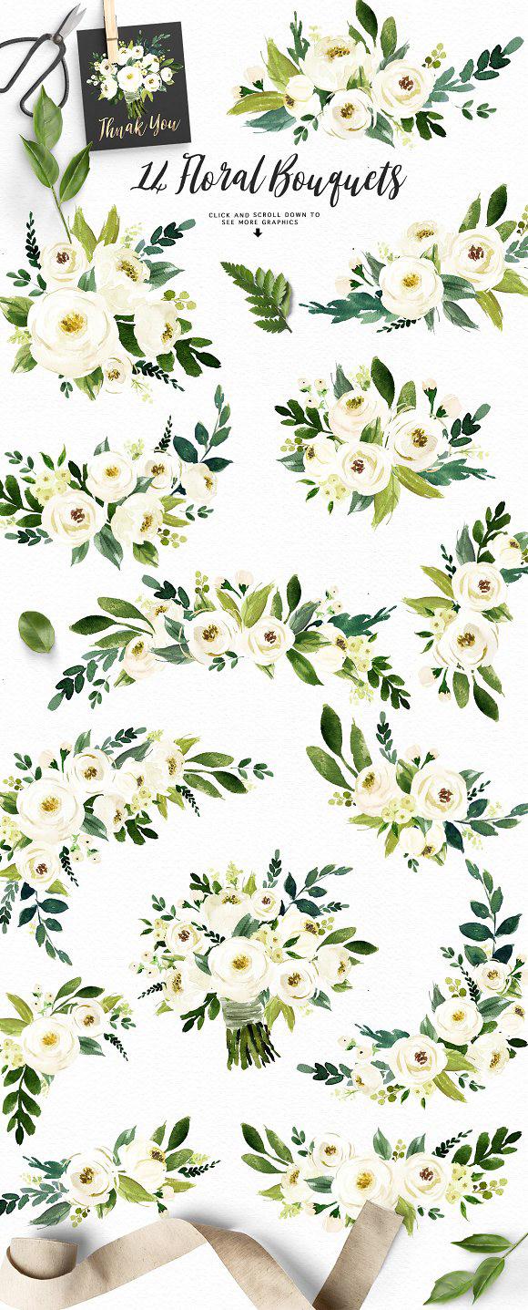 Deour Webdesign Resources Development Watercolor White Flower