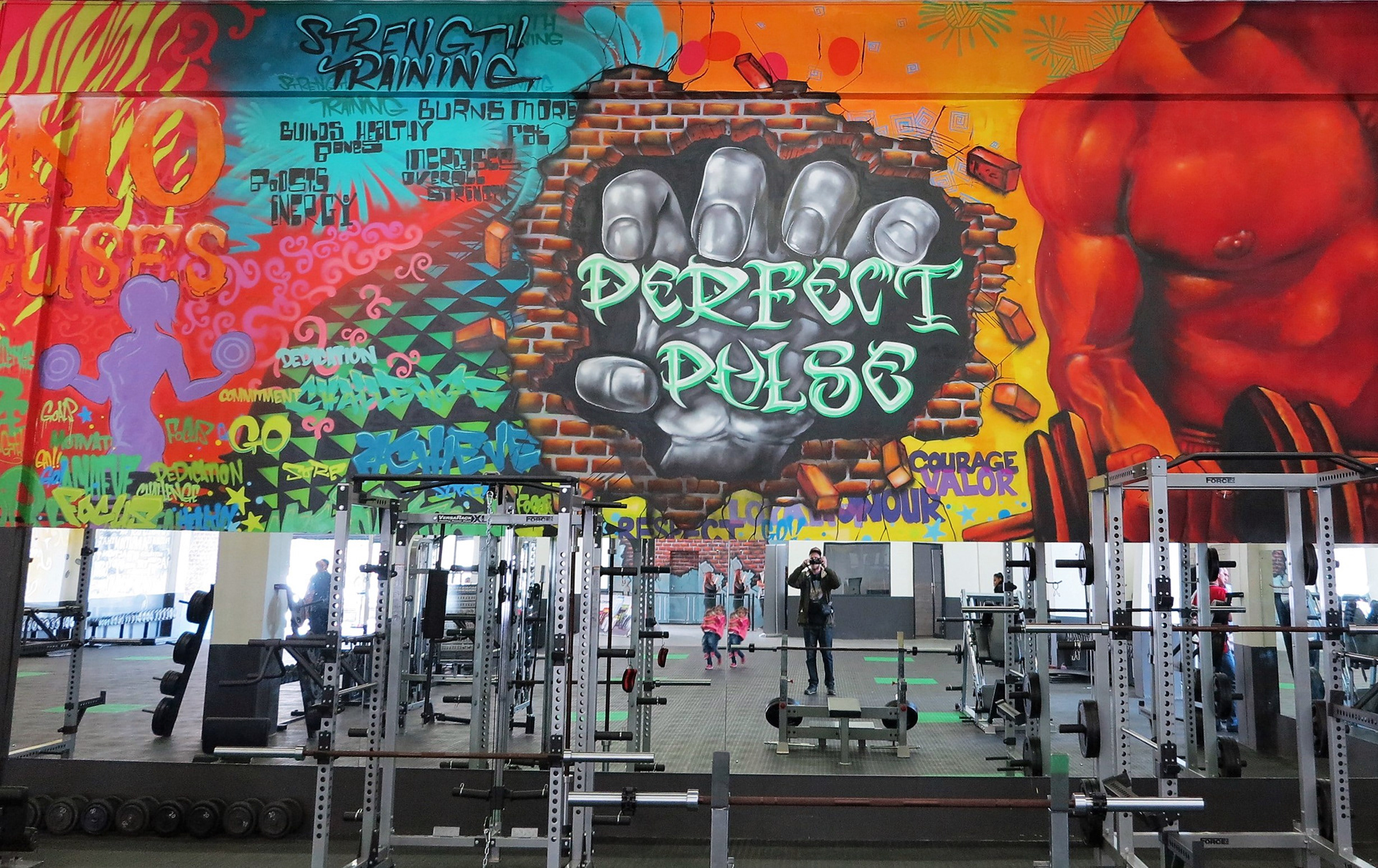 Large Scale Mural For Crossfit Gym