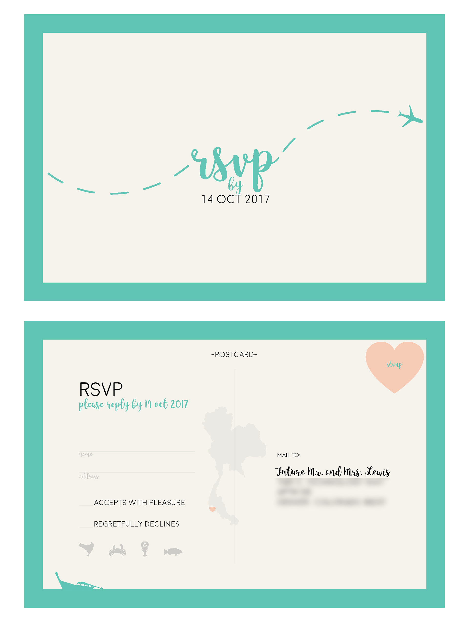 Wedding Invitations Includes Rsvp Card