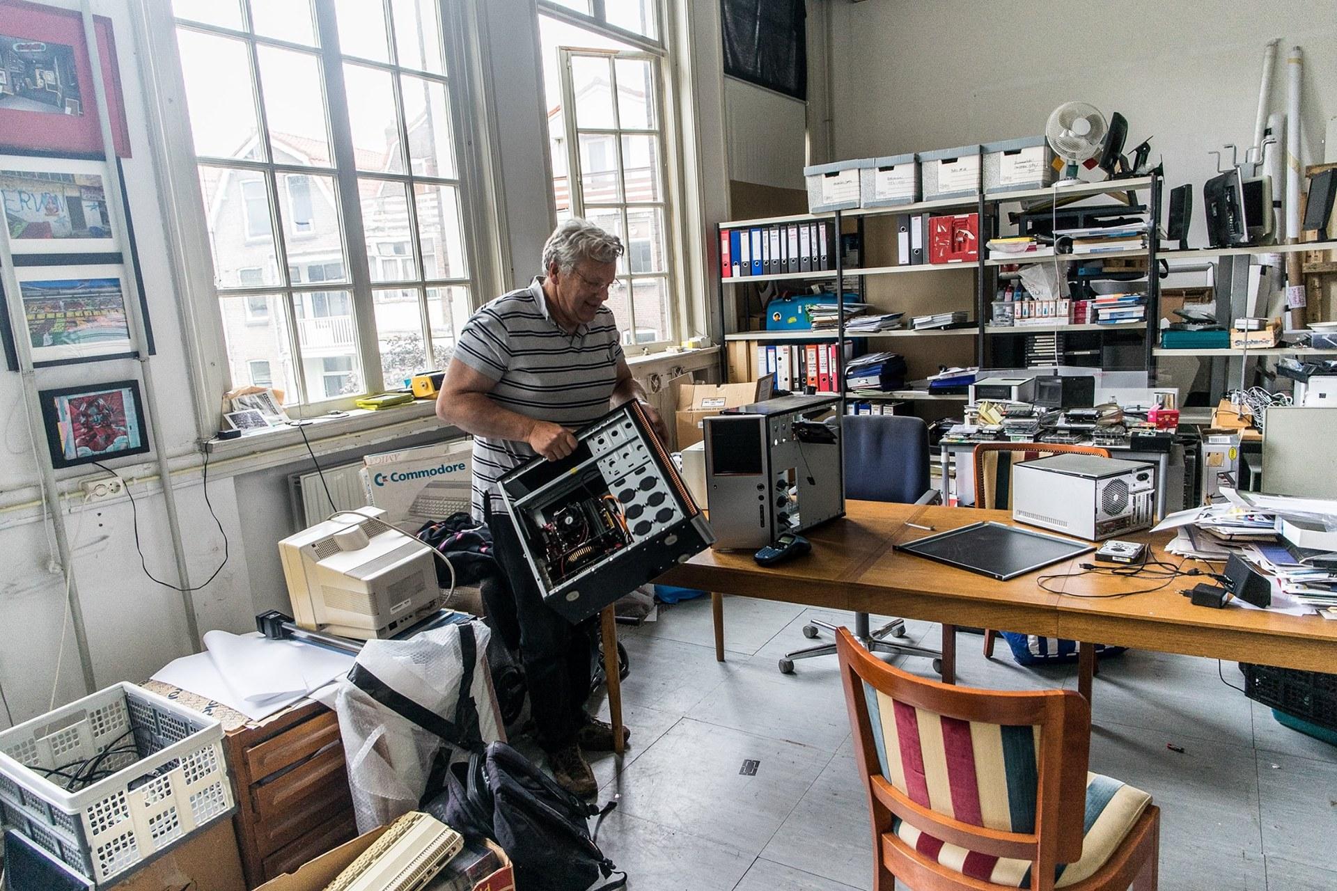 Frans in de studio