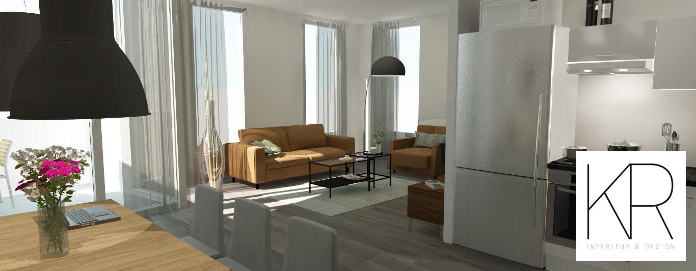 KR Interieur & Design - Interieur ontwerp appartement te Almelo
