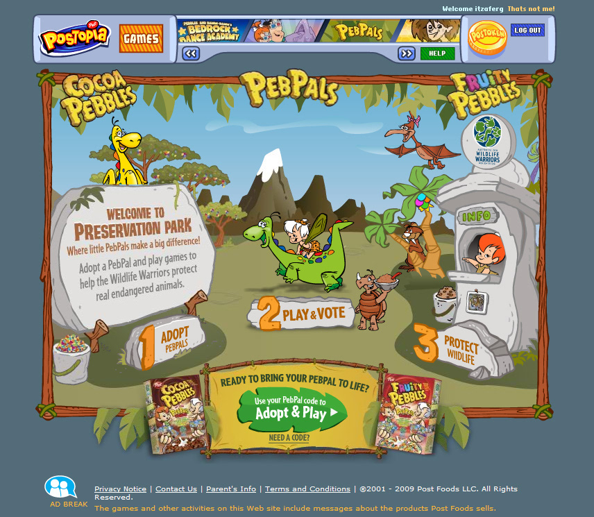 Peb Pals Was An Online Game Experience That Raised Awareness Of Endangered Wildlife Player Could Vote On Which Programs Would Receive A 30000 Donation