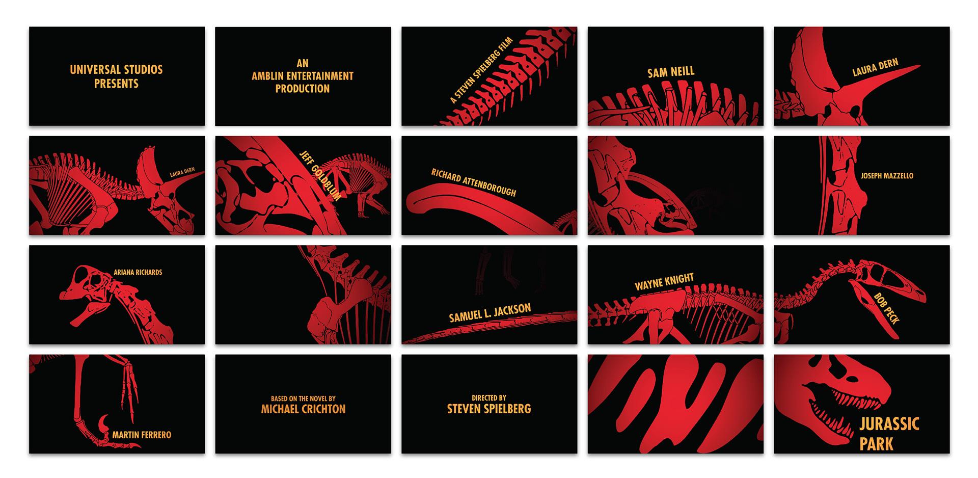 Jurassic Park Poster Credits