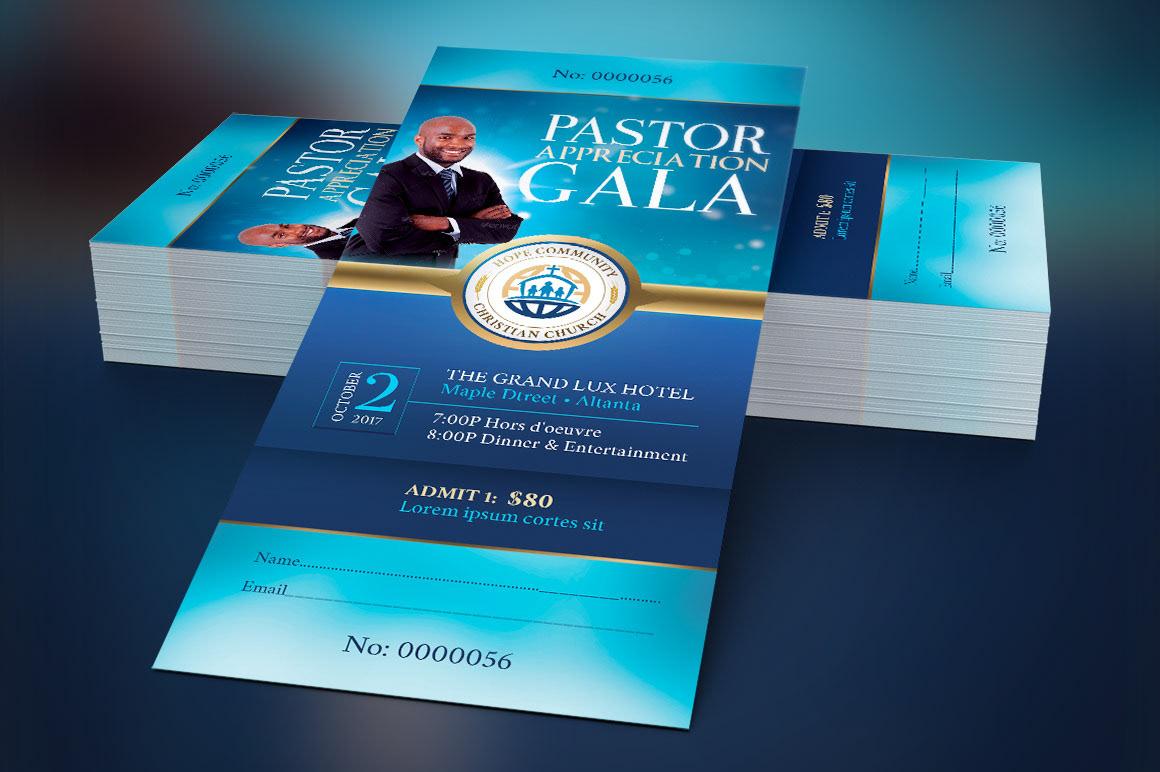 Community Pastor Appreciation Gala Ticket Template