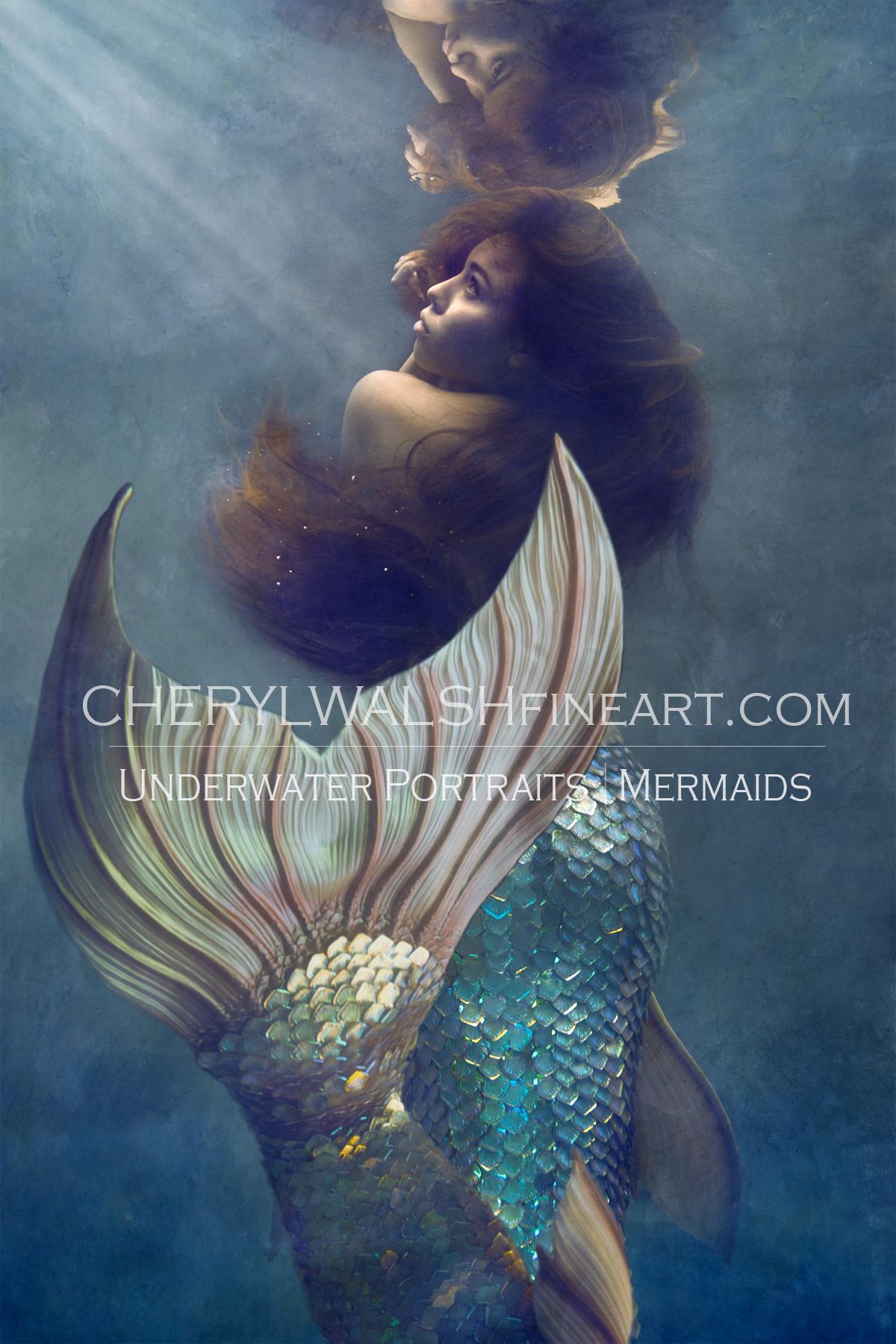 Cora the mermaid Print