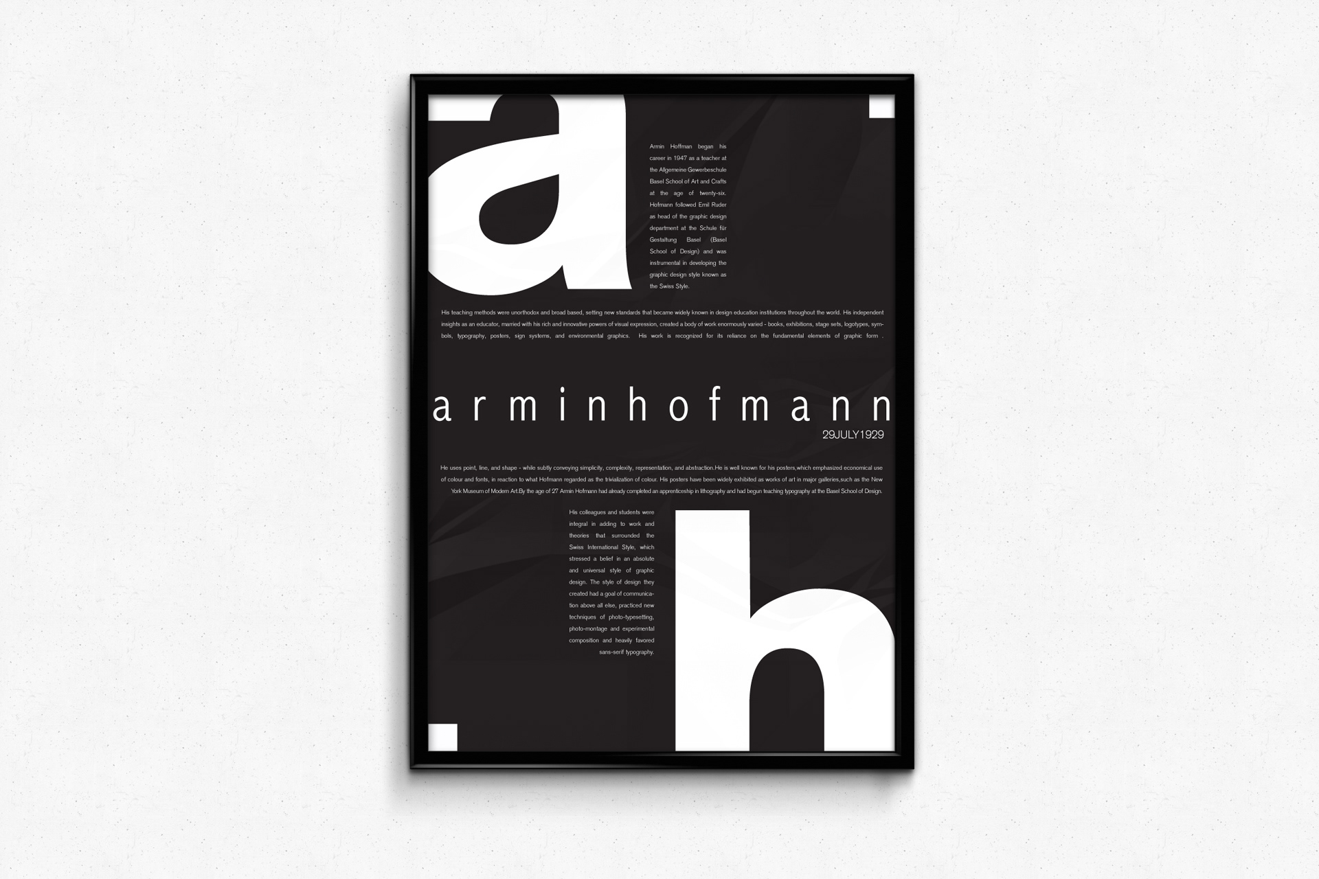 Shruti bhatnagar armin hofmann posters for Armin hofmann
