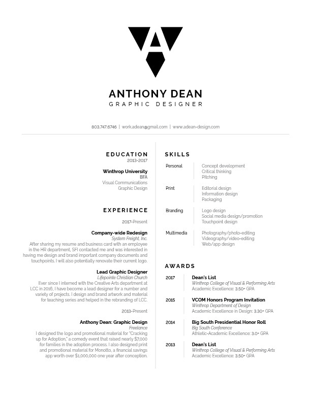 anthony dean resume