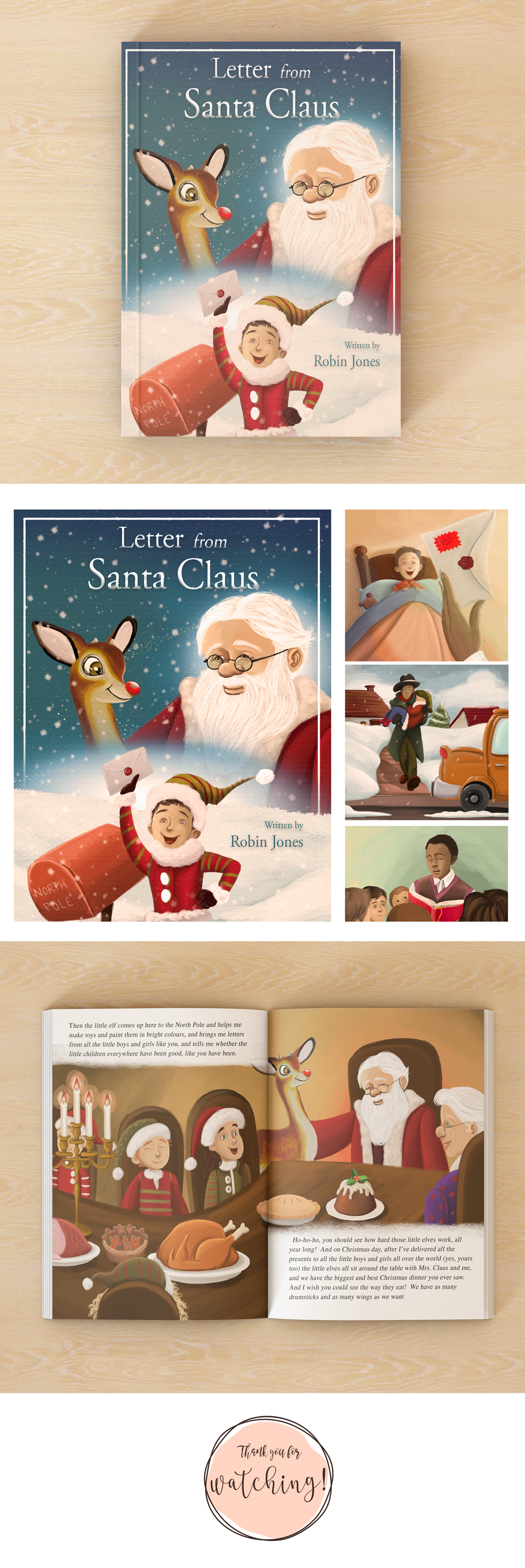 Mar Fandos  Letter From Santa Claus  Children Book Illustrations