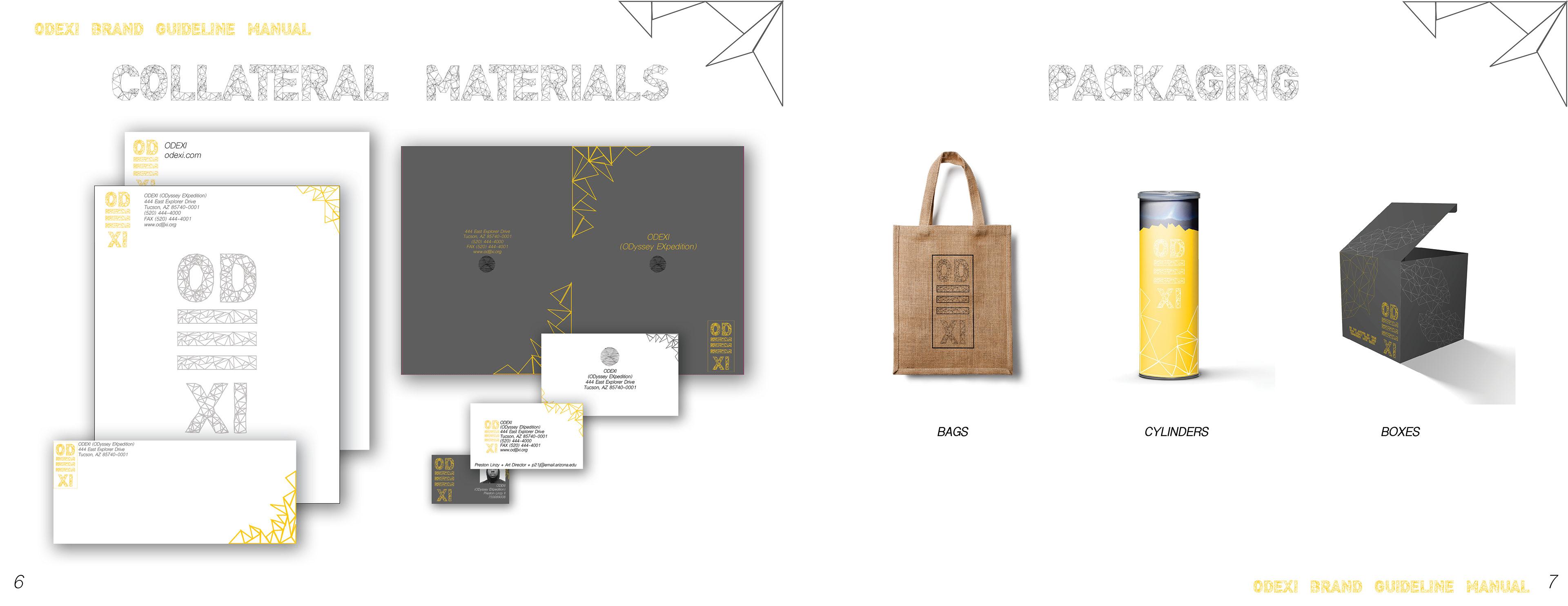 Design Illustration by Preston Linzy II ODEXI Brand Identity Manual