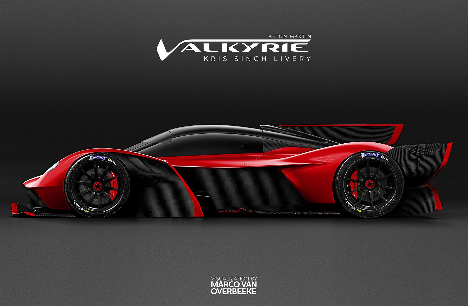 Marco Van Overbeeke Freelance Automotive Designer Aston Martin Valkyrie Kris Singh Custom Livery Spec