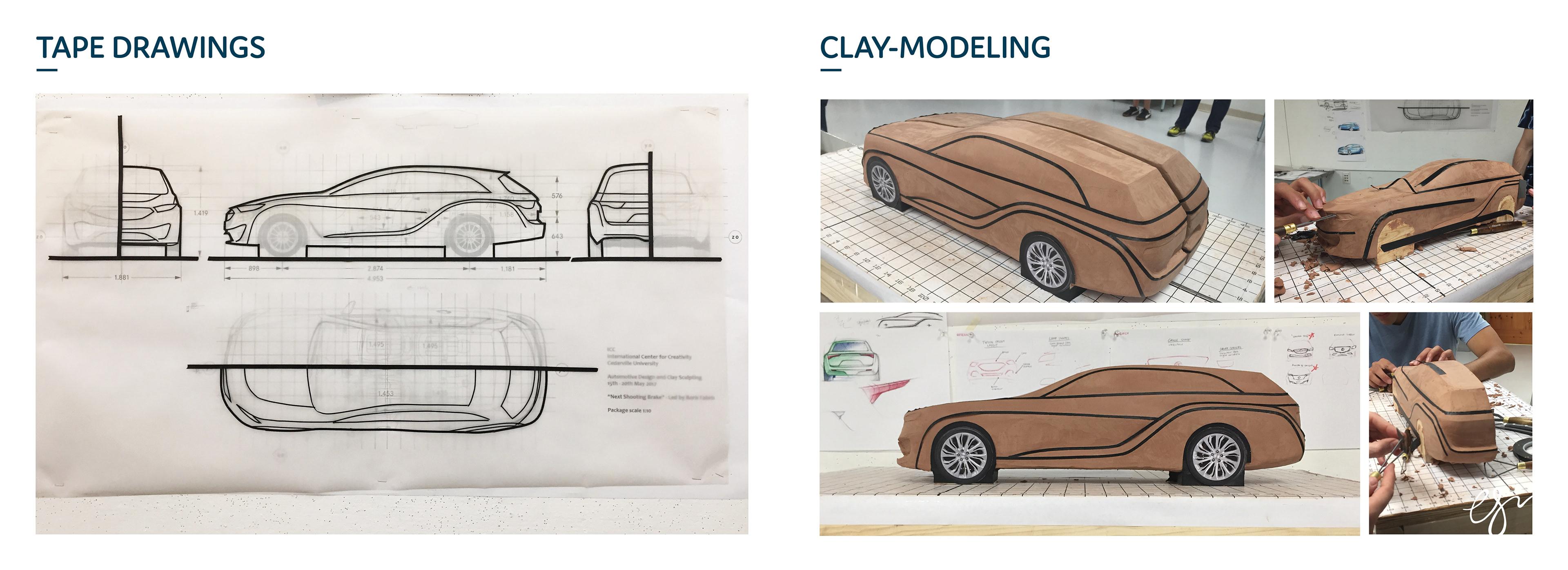 Amy Sririntrachai - Buick Shooting Brake Concept - Clay Modeling