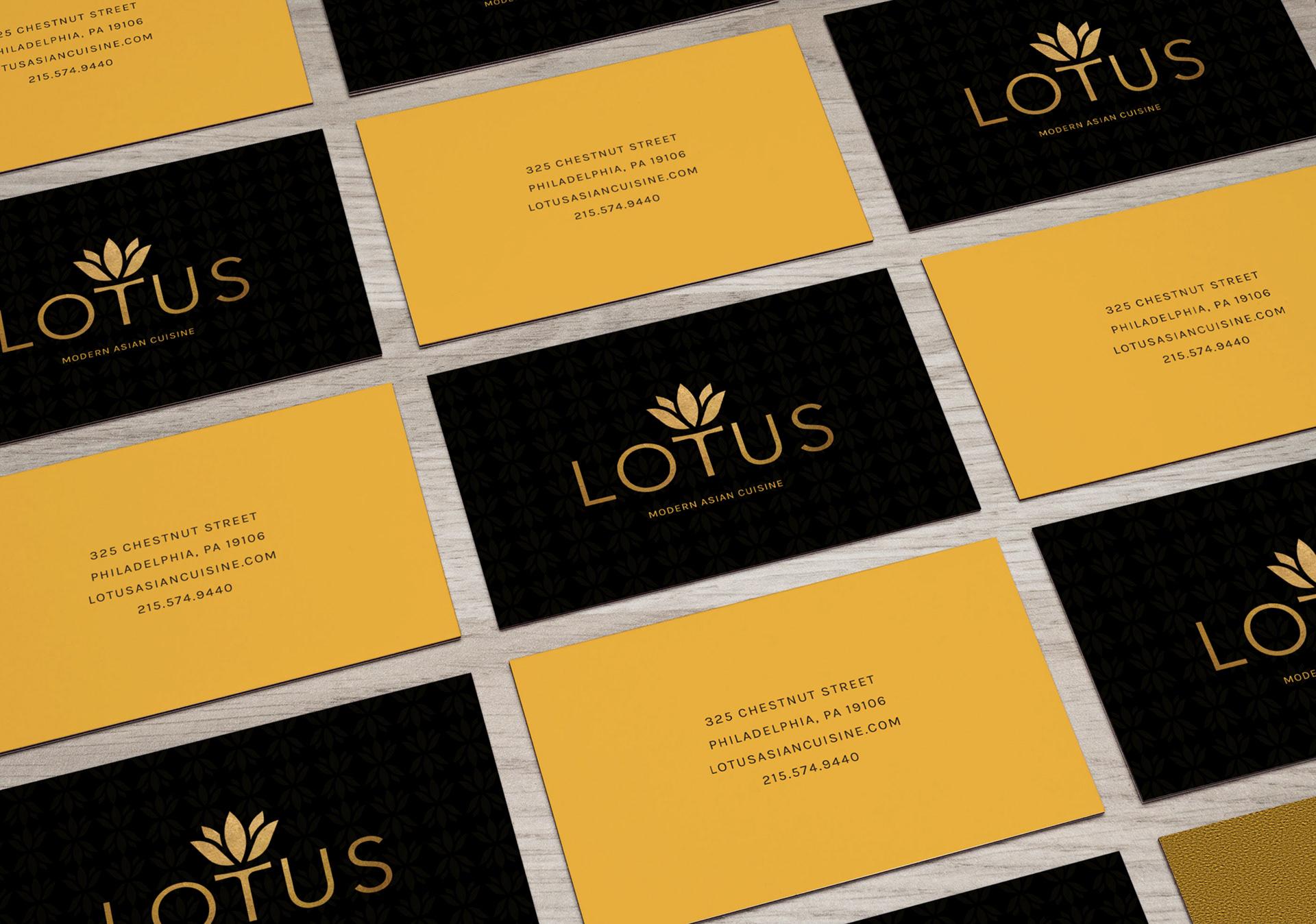 Nancy Nguyen Graphic Design - Lotus: Restaurant Branding