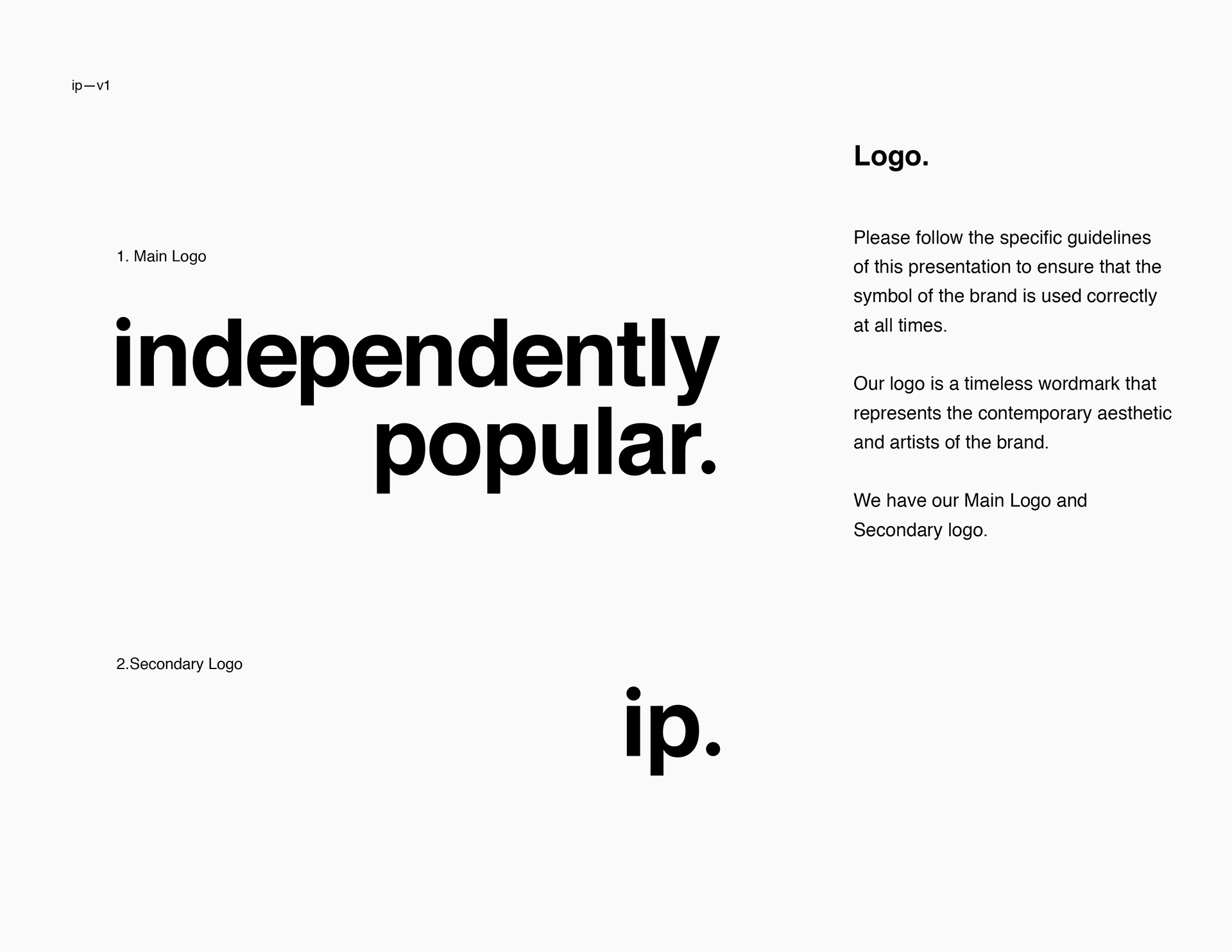 Juan duque independently popular brand guidelines logo update and brand guidelines for record label independently popular biocorpaavc Images