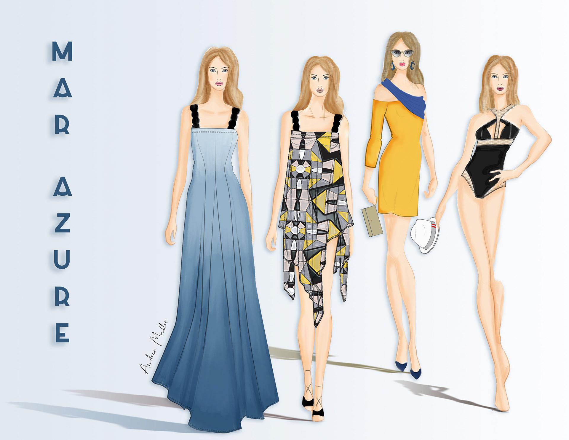 Andrea Muller Fashion Designer Illustrator Fashion Illustrations