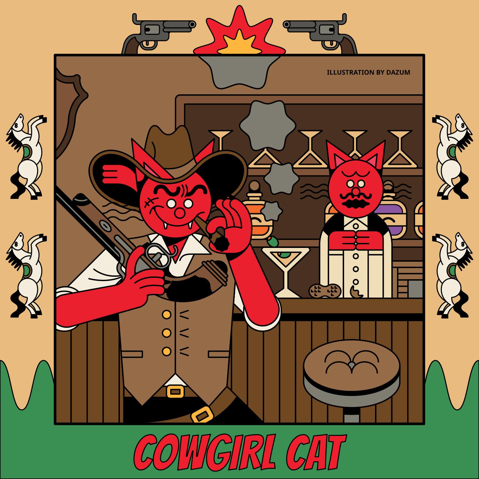 dasom yun   Cowgirl Cat