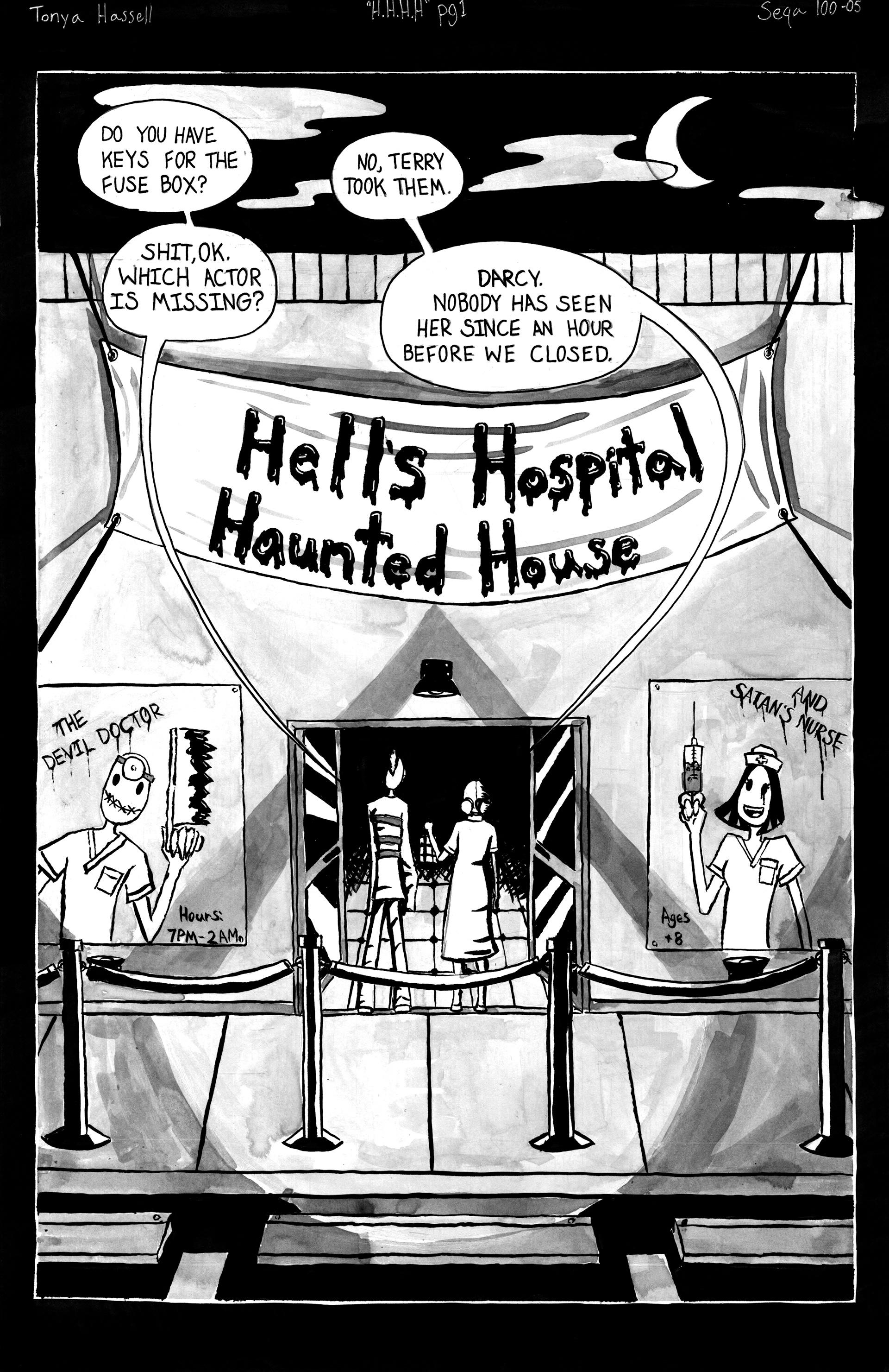 Tonya Hell - Hell's Hospital Haunted House Comic on