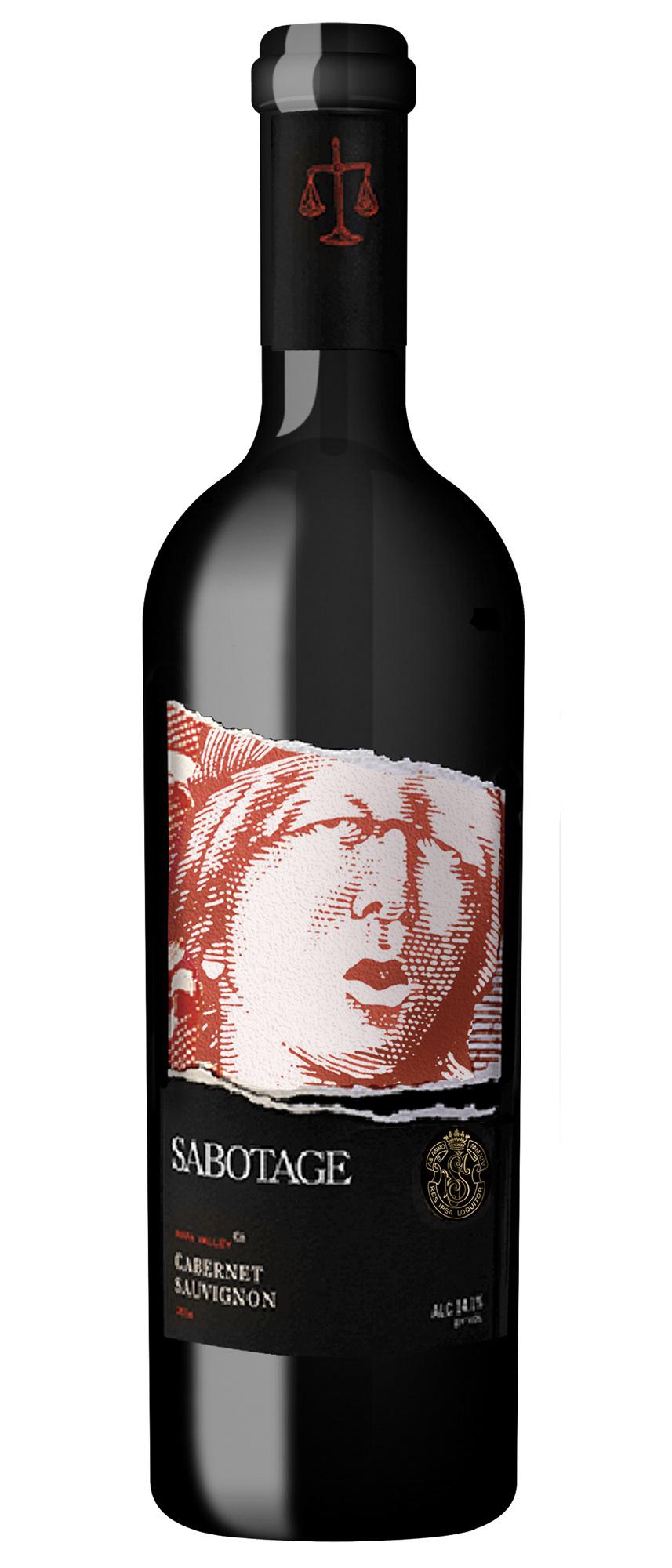 Steven Noble Sabotage Wine Label Illustrated By Steven Noble