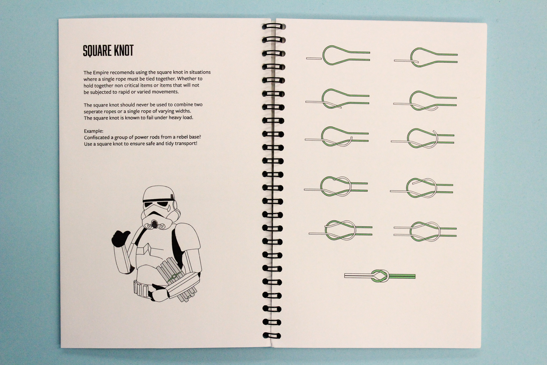 Rudolph Ward Graphic Design Galactic Empire Knot Handbook Square Diagram Covering Multiple Knots How To Tie Them And Their Respective Uses This Guide Is Great For Beginners Enthusiasts Alike