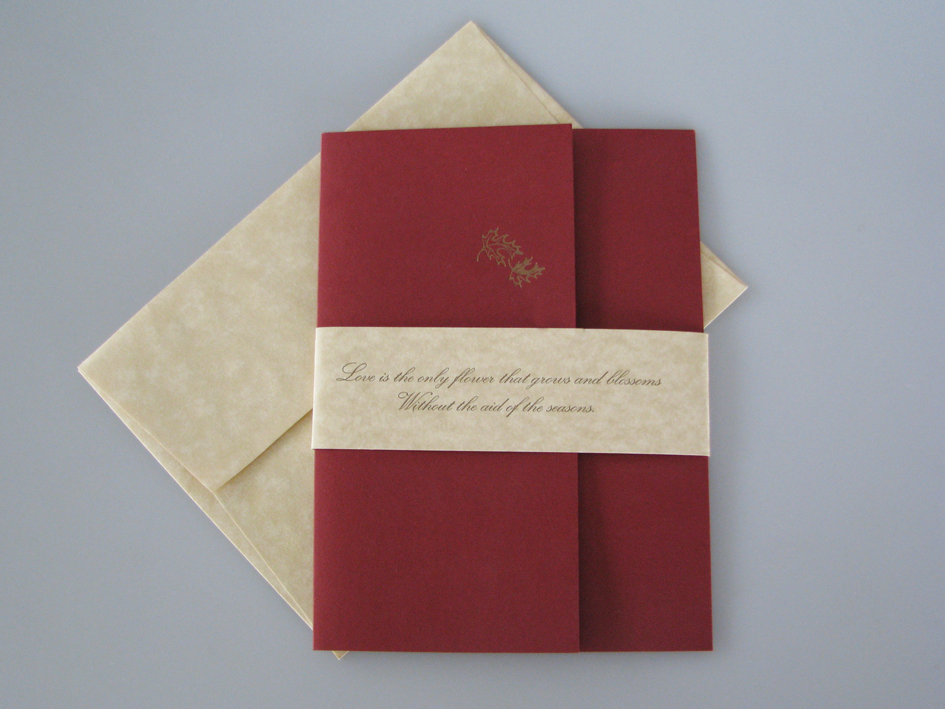 Christian LoGrasso - Fall themed letterpress wedding invitation
