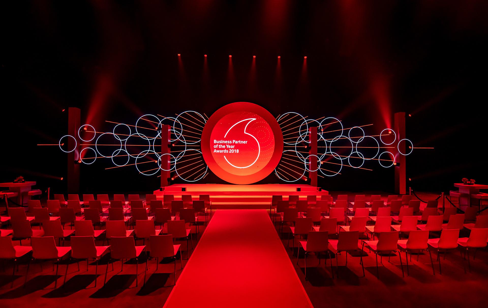 Bigvis Stagedesign Stage Design Vodafone Business Event