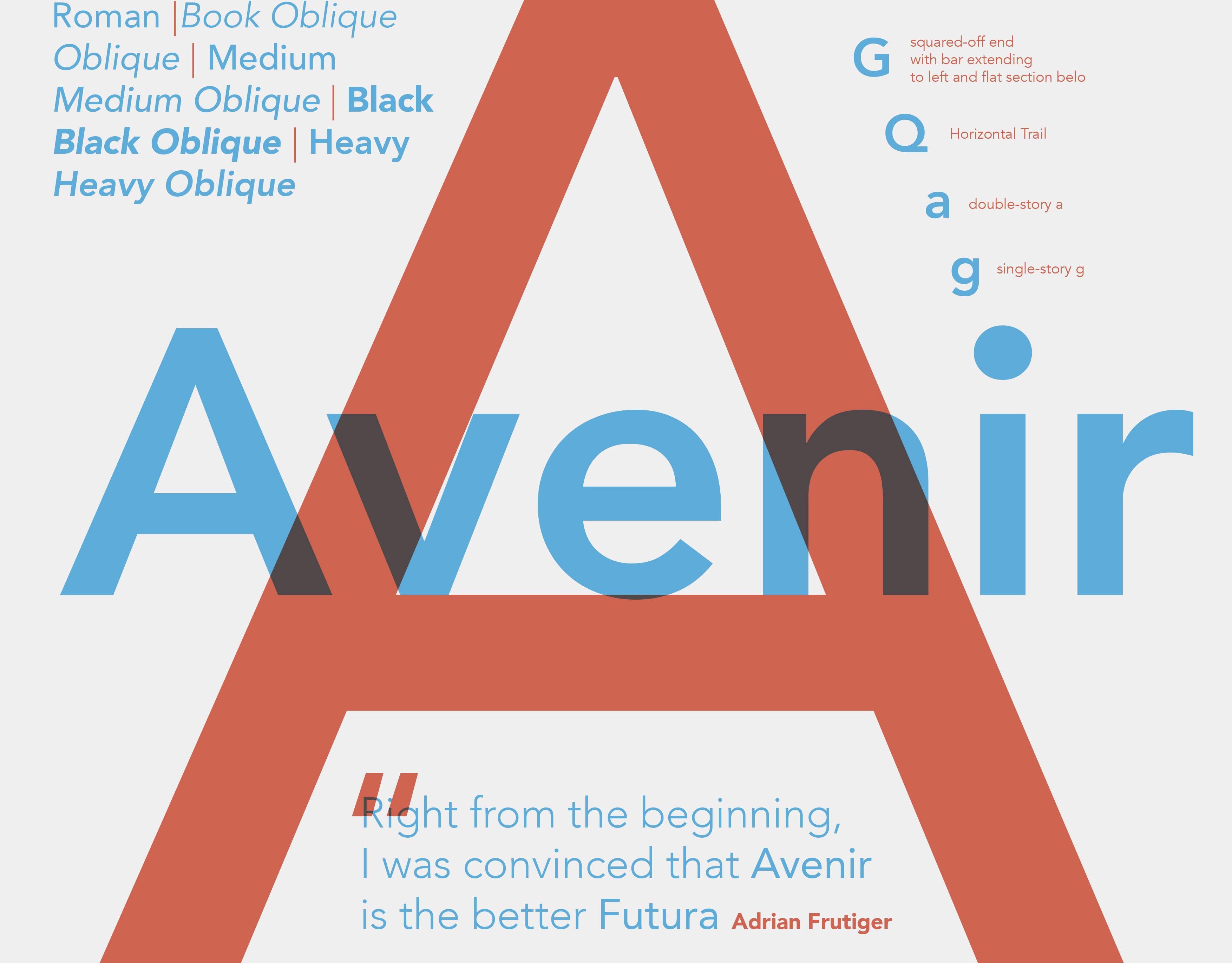 Alexander Westebbe - Typo Specimen Poster - Avenir