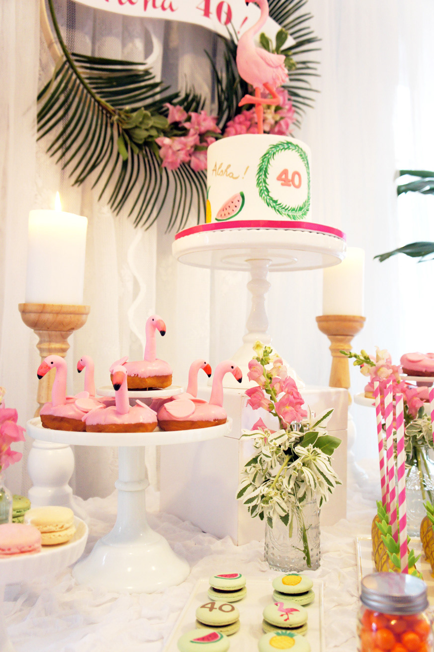Party With Chloe Tropical Flamingo Themed 40th Birthday