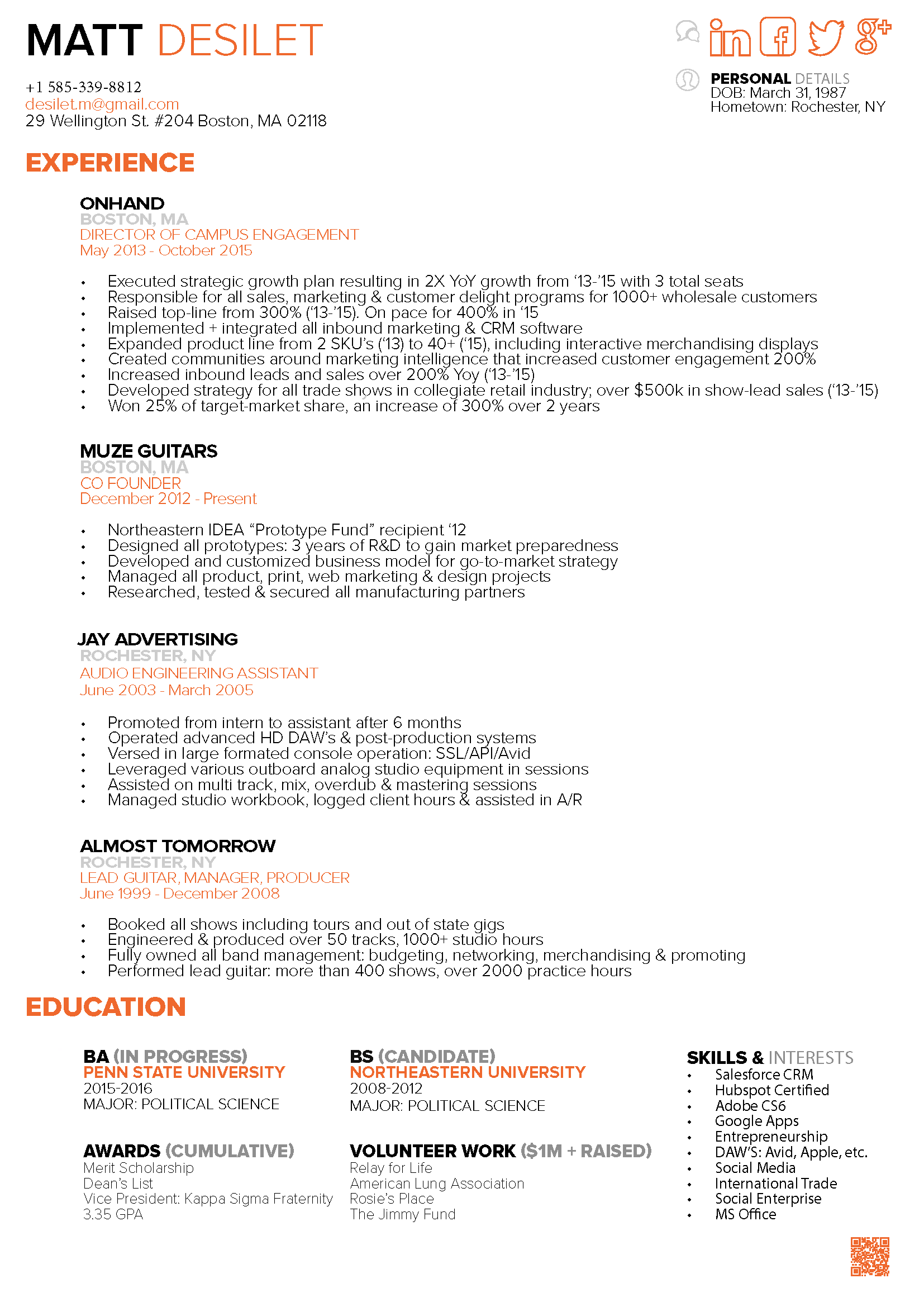 resume examples first focused on automotive career followed by design marketing the final in the healthcare industry - Resume Political Science Major